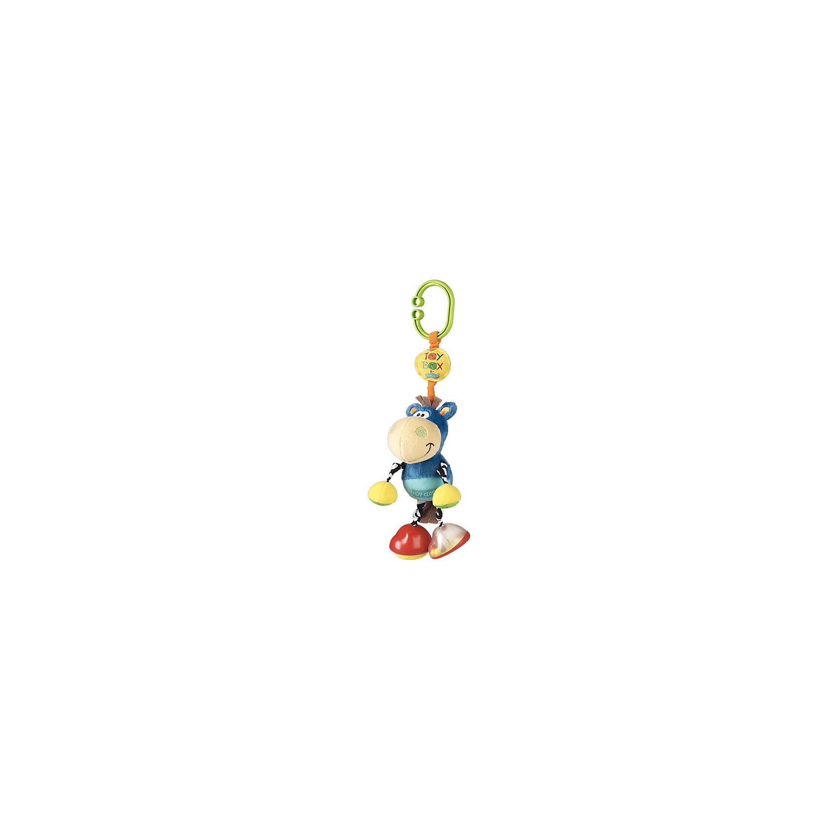 Игрушка-подвеска ОсликИгрушка-подвеска Ослик.<br><br>Характеристики:<br><br>- Цвет: голубой, желтый<br>- Состав: полиэстер, пластик<br><br>Игрушка-подвеска Ослик – отличный выбор, в качестве первой игрушки.  Данная модель  изготовлена из яркой, приятной на ощупь, мягкой ткани со вставками из элементов разной фактуры. Если потянуть игрушку вниз, она завибрирует, пока не вернется в исходное положение. Легко крепится на любой тип коляски с помощью большого зажима. Такая игрушка отлично развивает мелкую моторику малыша, а также тактильное и цветовое восприятие.<br><br>Игрушку-подвеску Ослик можно купить в нашем интернет – магазине.<br><br>Ширина мм: 234<br>Глубина мм: 129<br>Высота мм: 91<br>Вес г: 116<br>Возраст от месяцев: 0<br>Возраст до месяцев: 12<br>Пол: Унисекс<br>Возраст: Детский<br>SKU: 1842399