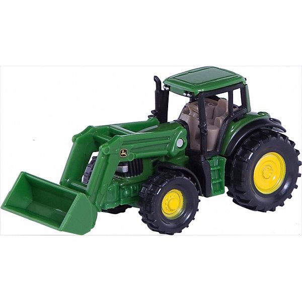 SIKU 1341 Трактор John Deere с ковшомМашинки<br>SIKU (СИКУ) 1341 Трактор John Deere с ковшом<br><br>Корпус выполнен из металла, кабина из пластика, ковш поднимается и опускается, колёса трактора вращаются и выполнены из пластика, можно катать. Сзади есть сцепное устройство, можно использовать с прицепом SIKU (СИКУ).<br><br>Дополнительная информация:<br>-Размер игрушки: 8,7 x 3,8 x 3,9 см<br>-Материал: металл с элементами пластмассы<br><br>Игрушечная модель трактора для маленького строителя идеально дополнит коллекцию малыша. Игра с моделями тракторов SIKU (СИКУ) развивает воображение, мышление, память, мелкую моторику рук и координацию движений детей.<br><br>SIKU (СИКУ) 1341 Трактор John Deere с ковшом можно купить в нашем магазине.<br>Ширина мм: 97; Глубина мм: 75; Высота мм: 41; Вес г: 49; Возраст от месяцев: 36; Возраст до месяцев: 96; Пол: Мужской; Возраст: Детский; SKU: 1851888;