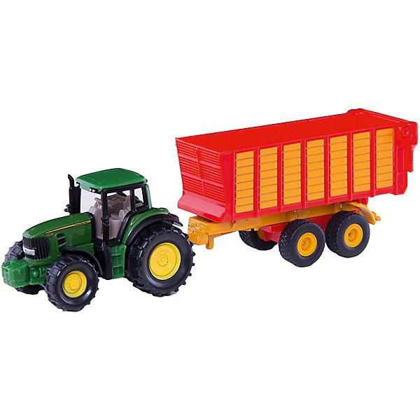 SIKU 1650 Трактор John Deere с силосным прицепомМашинки<br>SIKU (СИКУ) 1650 Трактор John Deere с силосным прицепом<br><br>Корпус трактора выполнен из металла, кабина трактора и кузов прицепа из пластмассы, колёса трактора и прицепа выполнены из пластмассы, можно катать. Прицеп отцепляется от трактора, задний борт прицепа открывается.<br><br>Дополнительная информация:<br>-Размер игрушки: 17,1 x 3,7 x 4,8 см<br>-Материал: металл с элементами пластмассы<br>-Масштаб 1:50<br><br>Интересная модель трактора прекрасно подходит для мальчишеских сюжетно-ролевых игр.<br><br>SIKU (СИКУ) 1650 Трактор John Deere с силосным прицепом можно купить в нашем магазине.<br><br>Ширина мм: 288<br>Глубина мм: 75<br>Высота мм: 41<br>Вес г: 89<br>Возраст от месяцев: 36<br>Возраст до месяцев: 96<br>Пол: Мужской<br>Возраст: Детский<br>SKU: 1851907