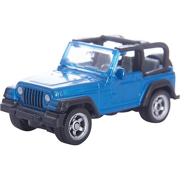 SIKU 1342 Jeep WranglerМашинки<br>Легендарный SIKU (СИКУ) 1342 Jeep Wrangler появился в ассортименте SIKU (СИКУ) в виде модели в маленьком масштабе. Угловатый металлический кузов и большие суровые внедорожные колеса придают этой модели аутентичный вид. <br><br>Корпус выполнен из металла, лобовое стёкло из прозрачной пластмассы, колёса выполнены из пластика и вращаются, можно катать. Сзади есть сцепное устройство, можно использовать с прицепом от SIKU (СИКУ). Рельефное запасное колесо.<br><br>Дополнительная информация:<br>-Материал: металл с элементами пластмассы<br>-Размер игрушки: 7,5 x 3,5 x 3 см<br>-Масштаб  1:50<br><br>Благодаря высокому качеству исполнения и сохранению высокой детализации, модель будет интересна не только детям, но и взрослым коллекционерам. Разнообразие моделей от SIKU (СИКУ), выполненных в одном масштабе, позволит вам собрать уникальную коллекцию. <br><br>SIKU (СИКУ) 1342 Jeep Wrangler можно купить в нашем магазине.<br>Ширина мм: 95; Глубина мм: 81; Высота мм: 35; Вес г: 42; Возраст от месяцев: 36; Возраст до месяцев: 96; Пол: Мужской; Возраст: Детский; SKU: 1851918;