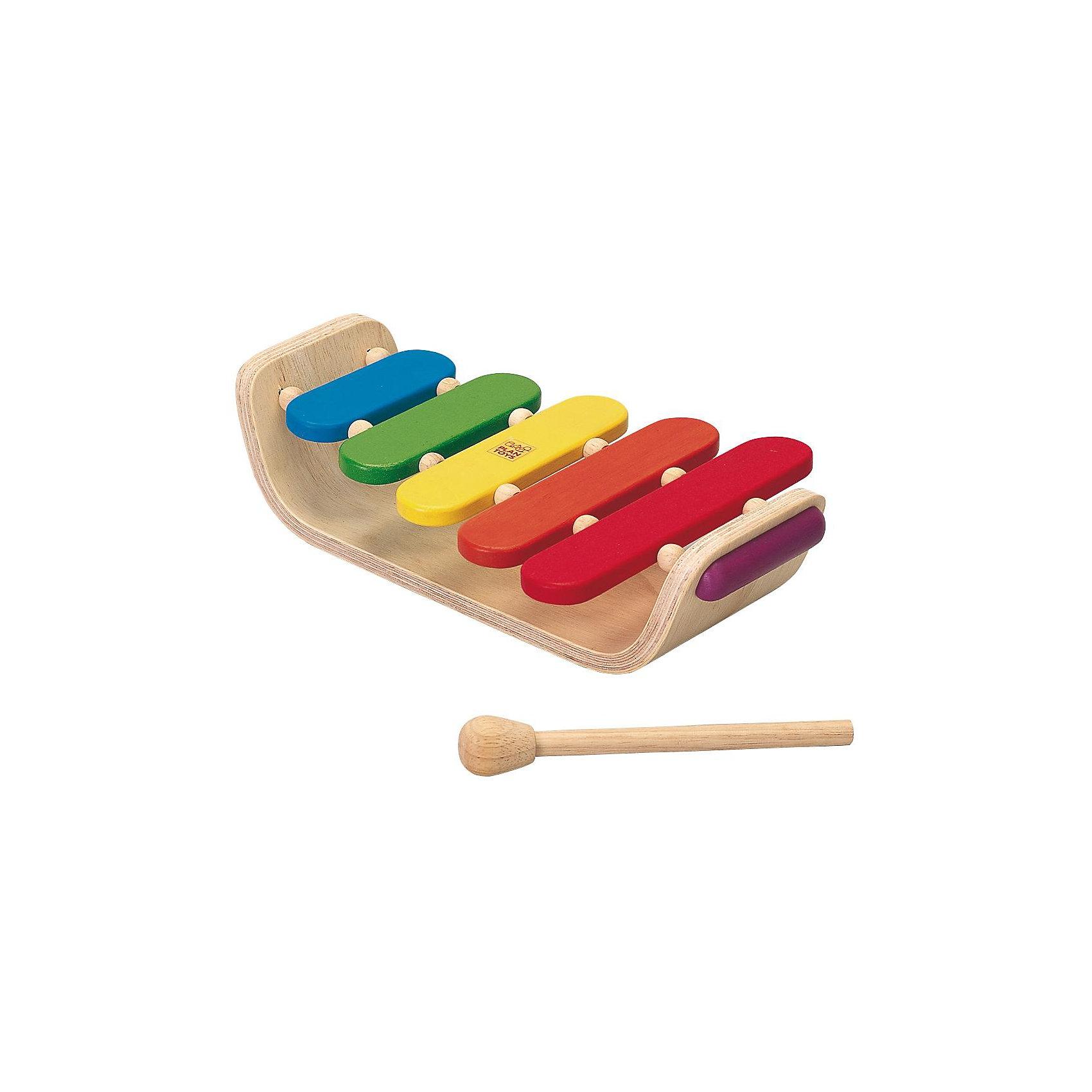 Plan Toys PLAN TOYS 6405 Овальный ксилофон деревянные игрушки plan toys мой первый мобильный телефон
