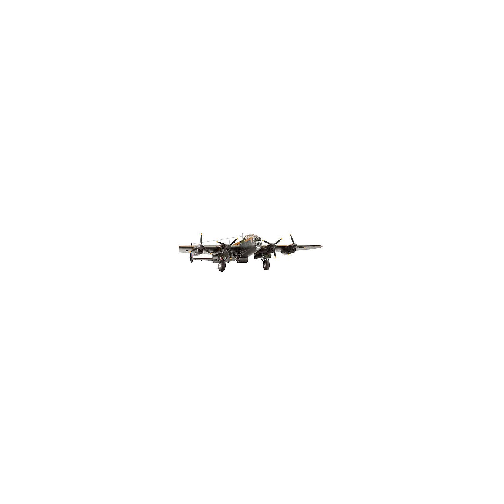 Бомбардировщик Lancaster Dam Buster  1:72Модели для склеивания<br>Сборная модель британского тяжелого бомбардировщика Avro Lancaster. Во время Второй мировой войны являлся одним из основных бомбардировщиков ВВС Великобритании. Самолеты данного типа совершили более 150 тысяч боевых вылетов. Всего ими было сброшено около 600 тысяч тонн бомб. Известность Ланкастеру принесла операция против немецких плотин в Руре, в которой были задействованы эти машины. <br>Всего было произведено 7377 экземпляров. В ряде стран самолет состоял на вооружении до 1963 года. <br>Масштаб: 1:72 <br>Количество деталей: 224 <br>Длина модели: 295 мм <br>Размах крыльев: 428 мм <br>Подойдет для детей старше 10-и лет <br>Клей, краски и кисточки продаются отдельно.<br><br>Ширина мм: 386<br>Глубина мм: 248<br>Высота мм: 67<br>Вес г: 535<br>Возраст от месяцев: 180<br>Возраст до месяцев: 1200<br>Пол: Мужской<br>Возраст: Детский<br>SKU: 1853835