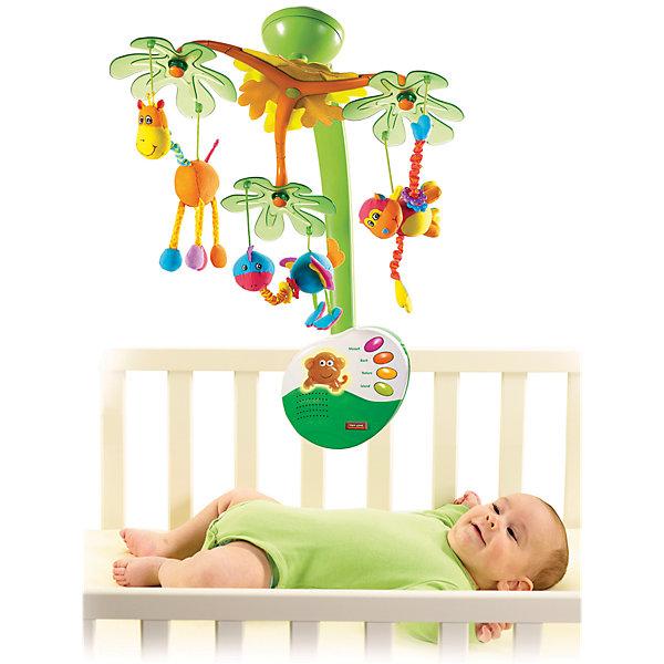 Музыкальный мобиль Остров сладких грёз с ночничком, Tiny LoveИгрушки для новорожденных<br>Музыкальный мобиль Остров сладких грёз с ночником от Tiny Love (Тини Лав). <br><br>Фирма Tiny Love (Тини Лав) изобрела мобили заново, чтобы перенести Вашего малыша на чудесный Остров сладких грёз. Там он сможет понаблюдать за танцем зверюшек радужных раскрасок, которые двигаются по новому запатентованному алгоритму. Кажется, что жираф, обезьянка и птичка всё время наклоняются к малышу, чтобы с ним пообщаться. Звучат мелодии Баха и Моцарта или же две мелодии, воссоздающие звуки природы (продолжительность проигрыша: 20 минут). А благодаря простому и удобному крепёжному устройству мобиль легко крепится практически на любой детской кроватке всего за пару приёмов. Ну и конечно же, родители смогут включать и выключать новый мобиль «Остров сладких грёз» и ночничок при помощи пульта дистанционного управления, не тревожа при этом малыша. <br><br>Дополнительная информация:<br><br>- Батарейки для музыкального блока: 3хС, для пульта - 2хААА (в комплект не входят). <br>- Материал: высококачественная пластмасса, полиэстер. <br>- Размер игрушки: музыкальный блок - 19х17 см, пульт - 7х7,5 см. <br>- Размер упаковки: 41х34,5х12 см. <br><br>Музыкальный мобиль Остров сладких грёз с ночничком, Tiny Love (Тини Лав) можно купить в нашем интернет-магазине.<br><br>Ширина мм: 413<br>Глубина мм: 345<br>Высота мм: 126<br>Вес г: 1592<br>Возраст от месяцев: 0<br>Возраст до месяцев: 24<br>Пол: Унисекс<br>Возраст: Детский<br>SKU: 1856271