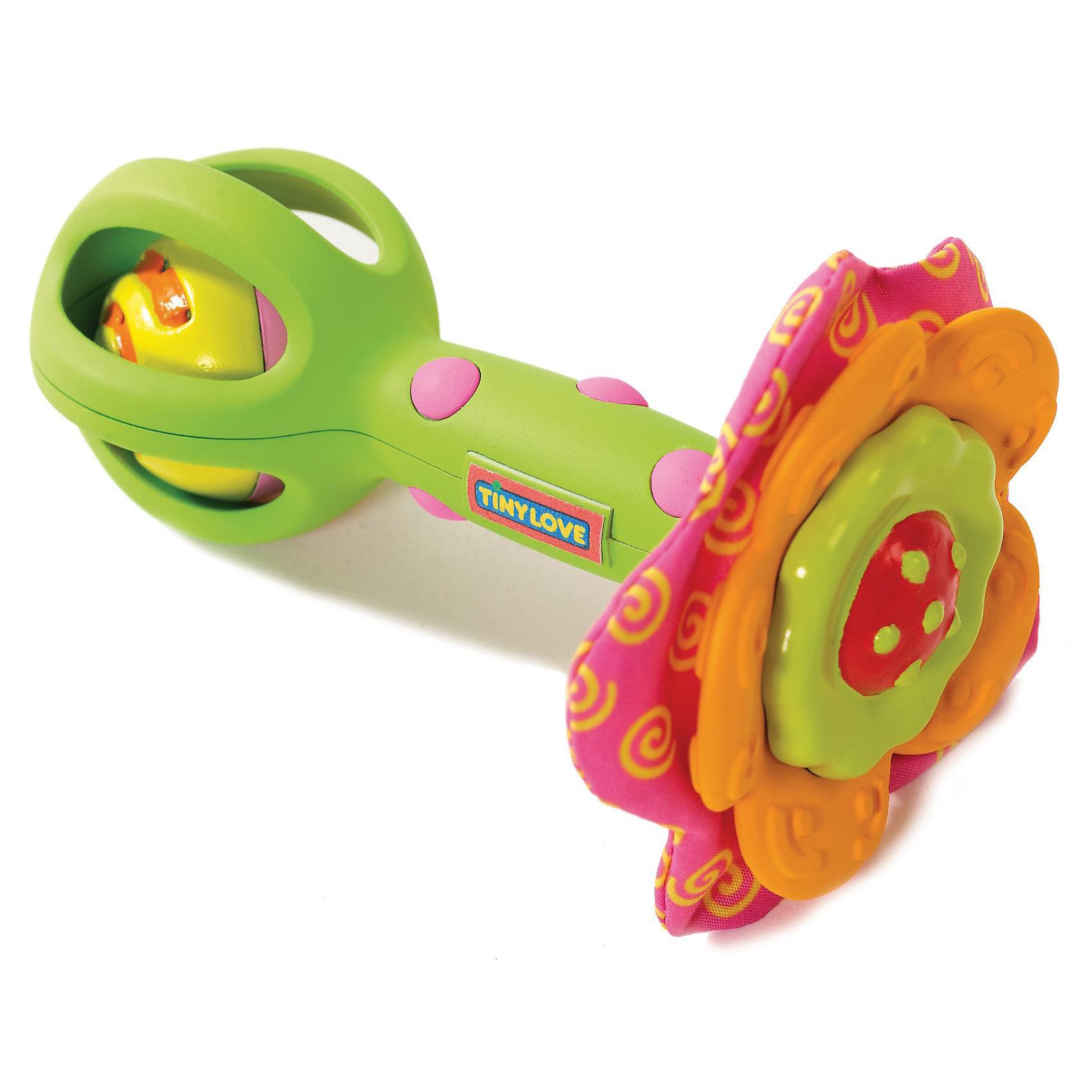 Развивающая игрушка Цветочек, Tiny LoveРазвивающая игрушка Цветочек, Tiny Love (Тини Лав)  серии Tiny Smarts - это уникальное сочетание всех чудесных свойств развивающих игрушек Tiny Love (Тини Лав)<br> <br>  Игрушки Tiny Smarts можно повсюду брать с собой - малыши перед ними не устоят. Погремушка-цветочек Flower Power может намного больше, чем просто трещать. <br> На стебельке этой яркой игрушки контрастных цветов, оптимальных для зрения малыша, есть резиновые шишечки, чтобы ребенку было удобней её держать. Внутри гремит шарик, шуршащие элементы и прорезыватели для зубок в форме лепестков цветка.<br><br>  Цветочек Flower Power - это не только весёлый жёлтый шарик-погремушка, но и кольцо-прорезыватель и забавно шуршащие лепесточки-лучики. Эта игрушка будет развивать органы чувств, мелкую моторику и мировосприятие малыша и ещё нескоро ему наскучит.<br><br>Размер игрушки: 8,5*8,5*13 см. <br><br>Развивающую игрушку Цветочек, Tiny Love (Тини Лав) можно купить в нашем интернет - магазине.<br><br>Ширина мм: 190<br>Глубина мм: 130<br>Высота мм: 70<br>Вес г: 66<br>Возраст от месяцев: 3<br>Возраст до месяцев: 18<br>Пол: Унисекс<br>Возраст: Детский<br>SKU: 1856278