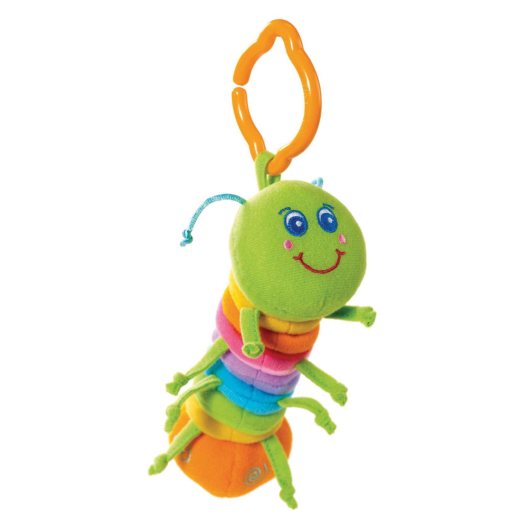 Развивающая игрушка Гусеничка, Tiny LoveРазвивающая игрушка Вибрирующая Гусеничка от Tiny Love (Тини Лав).<br><br>Игрушки серии Tiny Smarts - это уникальное сочетание всех чудесных свойств развивающих игрушек Tiny Love (Тини Лав) и выгодной цены. Игрушки Tiny Smarts можно повсюду брать с собой - малыши перед ними не устоят. <br><br>Развивающую игрушку «Вибрирующая Гусеничка» легко схватить и удержать в ручках, благодаря чему она привлечёт внимание даже новорожденного. Гусеничка сделана из материалов различной текстуры, что также станет объектом исследования малыша. Хвостик этой разноцветной маленькой гусеницы заканчивается забавно гремящей погремушкой; а ещё гусеничка может втягивать обратно шейку, которая при этом смешно вибрирует. <br>Так с самых первых дней жизни малыша игрушка будет развивать его органы чувств, мелкую и крупную моторику и мировосприятие.<br><br>Очень интересная игрушка для Вашего малыша!<br><br>Дополнительная информация:<br>Материал: текстиль.<br>Размеры (д/ш/в): 22 х 13 х 6 см.<br><br>Развивающую игрушку Гусеничка, Tiny Love (Тини Лав) можно купить в нашем интернет- магазине.<br><br>Ширина мм: 172<br>Глубина мм: 144<br>Высота мм: 66<br>Вес г: 63<br>Возраст от месяцев: 0<br>Возраст до месяцев: 12<br>Пол: Унисекс<br>Возраст: Детский<br>SKU: 1856280