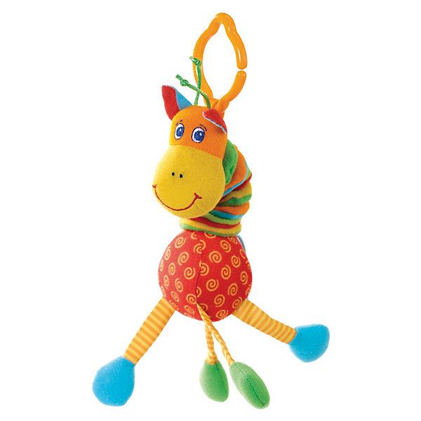 Развивающий игрушка Жираф, Tiny LoveИгрушки для новорожденных<br>Игрушки серии Tiny Smarts - это уникальное сочетание всех чудесных свойств развивающих игрушек Tiny Love (Тини Лав) и выгодной цены. Игрушки Tiny Smarts можно повсюду брать с собой - малыши перед ними не устоят. <br>Развивающую игрушку «Вибрирующий Жираф» легко схватить и удержать в ручках, благодаря чему она привлечёт внимание даже новорожденного. Гусеничка сделана из материалов различной текстуры, что также станет объектом исследования малыша. В голове у разноцветного маленького жирафа - весёлая погремушка, которая издаёт забавные звуки. Жирафа можно потянуть за шею, и он снова ее втянет, забавно качая при этом головой. <br>Так с самых первых дней жизни малыша игрушка будет развивать его органы чувств, мелкую и крупную моторику и мировосприятие.<br><br>Дополнительная информция:<br>Материал: текстиль, пластик<br>Габариты: 26х9х5 см<br>Вес: 0.1 кг<br><br>Развивающий игрушка Жираф, Tiny Love (Тини Лав) вы можете купить в нашем интернет - магазине.<br>Ширина мм: 200; Глубина мм: 130; Высота мм: 80; Вес г: 79; Возраст от месяцев: 0; Возраст до месяцев: 24; Пол: Унисекс; Возраст: Детский; SKU: 1856281;