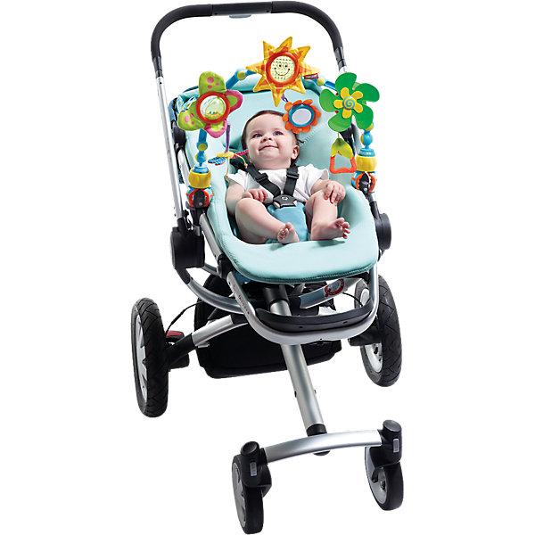 Дуга-трансформер Солнечная, Tiny LoveИгрушки для новорожденных<br>Развивающая дуга «Солнечная» фирмы Tiny Love (Тини Лав) - это неизменный спутник всех мобильных малышей. Она предлагает столько разнообразных возможностей для игр и развлечений, что малышу не успеет наскучить продолжительная прогулка в коляске или поездка в автомобильном кресле. <br>Дугу легко прикрепить практически к любой коляске, креслу или стульчику для кормления, а разноцветные фигурки - отбрасывающее солнечных зайчиков солнышко, бабочка и маленький пропеллер - позаботятся о том, чтобы малыш не заскучал. <br>Дуга собрана из эластичных деталей, и Вы сможете каждый раз менять её высоту и положение. Развивающая дуга «Солнечная» стимулирует развитие чувств, крупную и мелкую моторику и мировосприятие малыша.<br><br>Дополнительная информация:<br><br>- В комплекте:  большая бабочка — погремушка с шуршащими крылышками, маленькая бабочка, вертушка- пропеллер с бубенчиком, цветочек с зеркальцем.<br>- Размеры: 50х31х7 см<br><br>Дугу-трансформер Солнечная, Tiny Love (Тини Лав) можно купиь в нашем интернет магазине.<br>Ширина мм: 505; Глубина мм: 310; Высота мм: 80; Вес г: 694; Возраст от месяцев: 0; Возраст до месяцев: 12; Пол: Унисекс; Возраст: Детский; SKU: 1856283;
