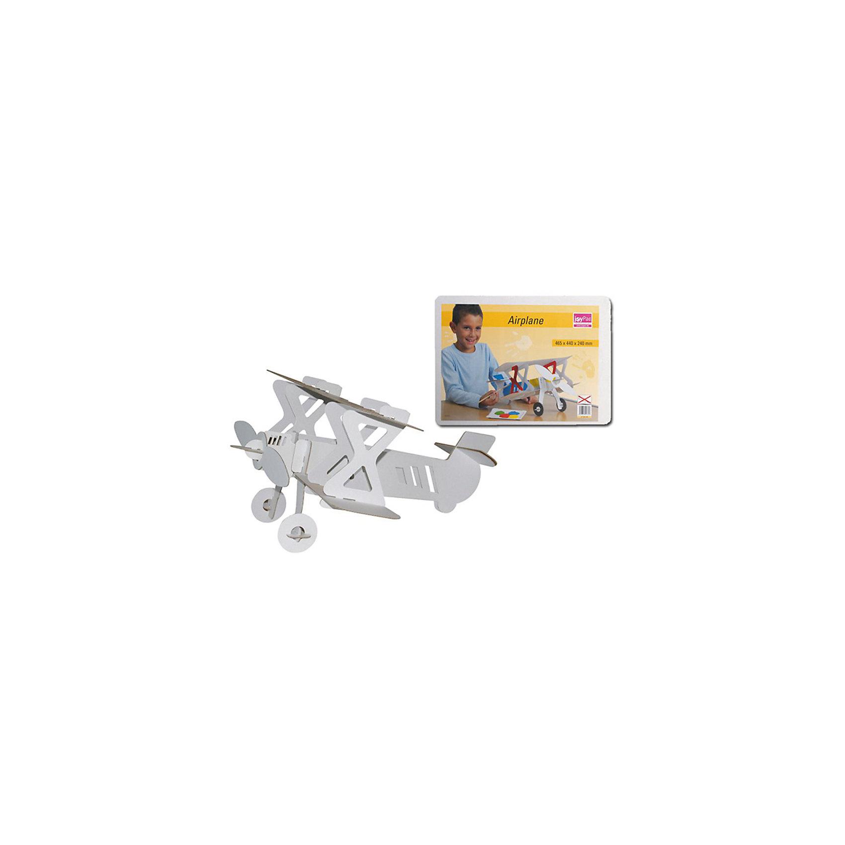 Картонный самолет для сборки и декорирования Joypac, C. KREULСборные модели транспорта<br>Картонный самолет для сборки и декорирования Joypac - идеальный подарок, для тех кому наскучило рисовать в альбоме! Будущие покорители воздушных просторов по достоинству оценят картонный самолет! Небольшие размеры не лишают его свойств, присущих настоящему летательному аппарату – крылья, вращающийся мотор, шасси и крепкий корпус, сделанные из высококачественного картона! А каким будет аэроплан – красным, желтым или цветным, решит ваш маленький летчик! Заготовка из картона объёмная, не требует дополнительных клеящих средств для сборки, после сборки сразу можно декорировать и играть. Ребёнок сам сможет легко и быстро собрать изделие, материал отлично подходит для разукрашивания и декорирования!<br><br>Дополнительная информация:<br><br>- Собирается очень легко;<br>- Прочный материал позволит играть с самолетом еще очень долго;<br>- Настоящая игрушка своими руками;<br>- Стены самолета белые - полная свобода для художника;<br>- Разукрашивать самолет можно чем угодно: красками, карандашами, фломастерами;<br>- Материал: картон;<br>- Размер в собранном виде: 46 х 44 х 24;<br>- Размер упаковки: 47 х 33 х 1 см;<br>- Вес: 0,3 кг<br><br>Картонный самолет для сборки и декорирования Joypac можно купить в нашем интернет-магазине.<br><br>Ширина мм: 470<br>Глубина мм: 10<br>Высота мм: 330<br>Вес г: 300<br>Возраст от месяцев: 72<br>Возраст до месяцев: 1200<br>Пол: Унисекс<br>Возраст: Детский<br>SKU: 1858335