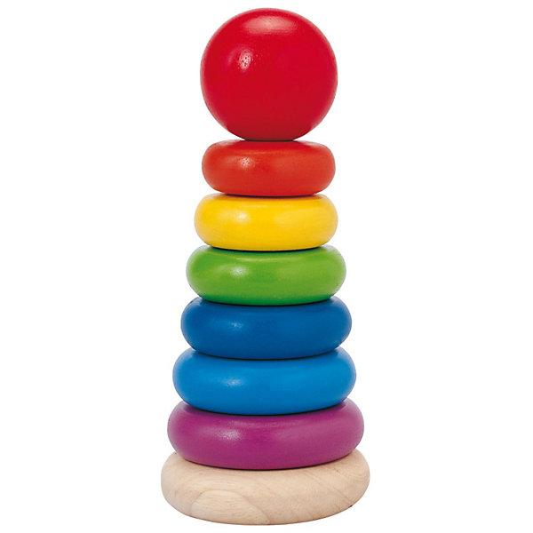 PLAN TOYS 5124 ПирамидкаДеревянные игрушки<br>PLAN TOYS 5124 Пирамидка<br><br>Характеристика:<br><br>-Размеры: 15,5x8 см<br>-Диаметры колец: 5-8 см<br>-Материал: каучуковое дерево, нетоксичные краски на водной основе<br>-Возраст: от 18 месяцев до 4 лет<br><br>Пирамидка имеет 6 цветов:<br>-красный<br>-жёлтый<br>-зелёный<br>-синий<br>-голубой<br>-фиолетовый<br><br>Пирамидка от PLAN TOYS создана для развития вашего ребёнка. ребёнок должен будет поочередно надеть  на столбик кольца так, чтобы в результате получилась пирамида. В процессе игры у ребёнка будет развиваться логическое мышление, цветовое восприятие и мелкая моторика рук.<br><br>PLAN TOYS 5124 Пирамидку можно приобрести в нашем интернет-магазине.<br><br>Ширина мм: 195<br>Глубина мм: 119<br>Высота мм: 99<br>Вес г: 392<br>Возраст от месяцев: 18<br>Возраст до месяцев: 48<br>Пол: Унисекс<br>Возраст: Детский<br>SKU: 1861047