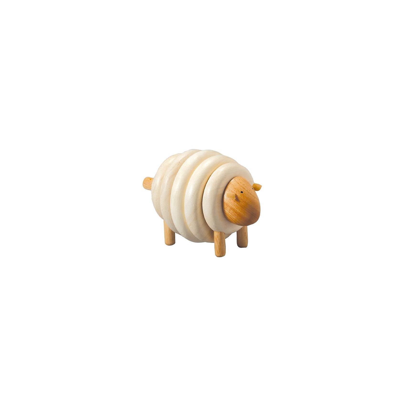 PLAN TOYS 5150 ОвечкаРазвивающие игрушки<br>Если дети правильно соберут последовательность цветов, у них получится прелестная овечка. <br><br>Собирание пирамидки развивает координацию между зрением и движением рук, а также учит различать формы и цвета.<br><br>Размеры: 8 x 9 x 13,5 см<br><br>Материал: каучуковое дерево, высококачественный и экологически чистый материал.<br><br>Ширина мм: 130<br>Глубина мм: 145<br>Высота мм: 57<br>Вес г: 350<br>Возраст от месяцев: 36<br>Возраст до месяцев: 1164<br>Пол: Унисекс<br>Возраст: Детский<br>SKU: 1861048