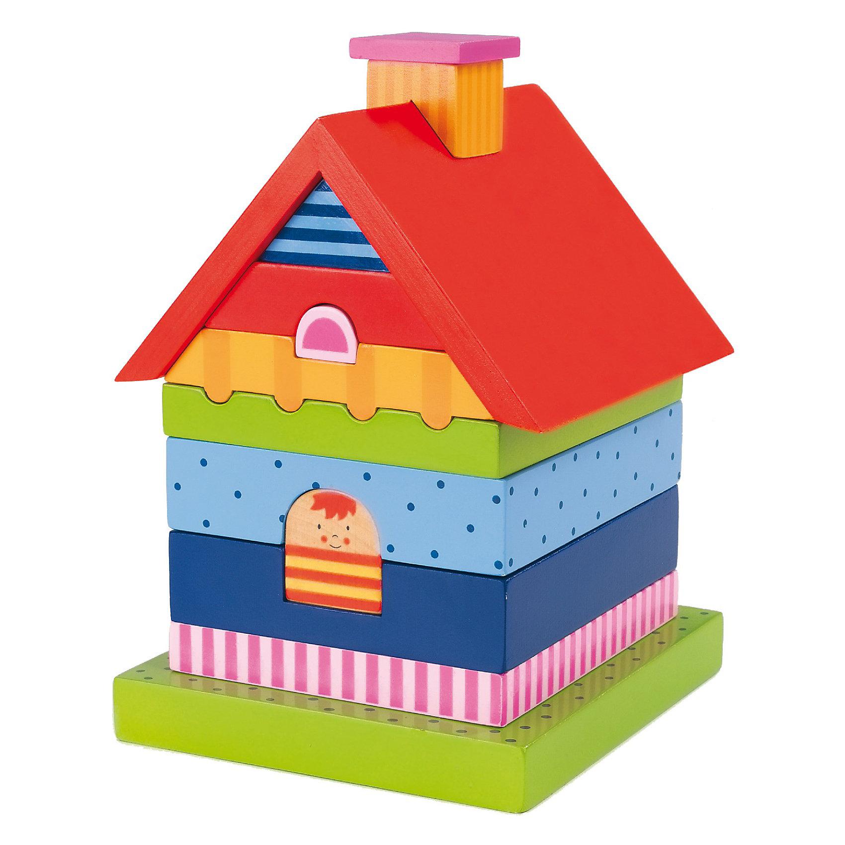 Пирамидка Вилла, gokiПирамидка Вилла от Toys Pure. <br><br>Не так просто построить настоящий дом! Для этого нужно соединить 14 различных деталей. Интересный вызов для детей от 12 месяцев.<br><br>Дополнительная информация:<br><br>Материал: дерево.<br>Размер игрушки: 13,5 х 15,5 х 21 см.<br><br>Ширина мм: 210<br>Глубина мм: 135<br>Высота мм: 140<br>Вес г: 1640<br>Возраст от месяцев: 12<br>Возраст до месяцев: 48<br>Пол: Унисекс<br>Возраст: Детский<br>SKU: 1867665