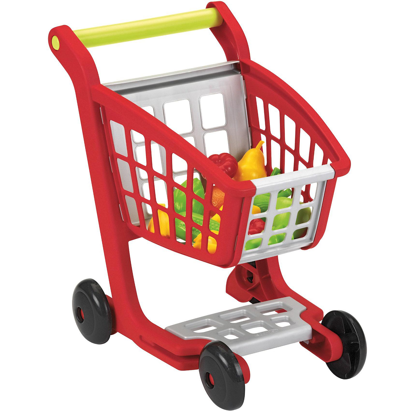 Тележка с продуктами, EcoiffierСюжетно-ролевые игры<br>Реалистичная тележка для покупок. Яркая тележка для покупок достаточно большая, чтобы вместить все покупки. Игрушка прекрасно подойдет для сюжетно-ролевых игр.<br><br>Дополнительная информация:<br><br>- В наборе фрукты и овощи: апельсин, яблоко, груша, кукуруза, 2 помидора, лук, 2 грозди бананов, лимон, папайя, сельдерей. <br>- Размеры (д/ш/в): 41,5 x 29,5 x 41,5 см.<br>- Материал: высококачественная пластмасса.<br><br>Ecoiffier Тележку с продуктами можно купить в нашем магазине.<br><br>Ширина мм: 496<br>Глубина мм: 365<br>Высота мм: 114<br>Вес г: 910<br>Возраст от месяцев: 12<br>Возраст до месяцев: 60<br>Пол: Унисекс<br>Возраст: Детский<br>SKU: 1871015