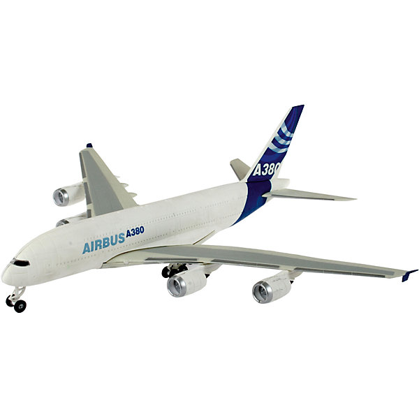 Сборка Пассажирский самолет Airbus A380 ДемонстрационныйСамолеты и вертолеты<br>Характеристики товара:<br><br>• возраст: от 6 лет;<br>• масштаб: 1:288;<br>• количество деталей: 47 шт;<br>• материал: пластик; <br>• клей и краски в комплект не входят;<br>• габариты модели: 25,2х27,2 см;<br>• бренд, страна бренда: Revell (Ревел),Германия;<br>• страна-изготовитель: Польша.<br><br>Сборная модель «Пассажирский самолет Airbus A380» поможет вам и вашему ребенку придумать увлекательное занятие на долгое время и получить игрушку в виде настоящего пассажирского самолета. <br><br>Набор включает в себя 47 пластиковых элементов и подробную инструкцию. Все детали предварительно окрашены, а сама модель собирается без клея, при помощи специальных зажимов. Готовый истребитель украсит стол или книжную полку ребенка. <br><br>Процесс сборки развивает интеллектуальные и инструментальные способности, воображение и конструктивное мышление, а также прививает практические навыки работы со схемами и чертежами.<br><br>Сборную модель «Пассажирский самолет Airbus A380», 47 дет., Revell (Ревел) можно купить в нашем интернет-магазине.<br>Ширина мм: 313; Глубина мм: 185; Высота мм: 53; Вес г: 245; Возраст от месяцев: 72; Возраст до месяцев: 132; Пол: Мужской; Возраст: Детский; SKU: 1871985;