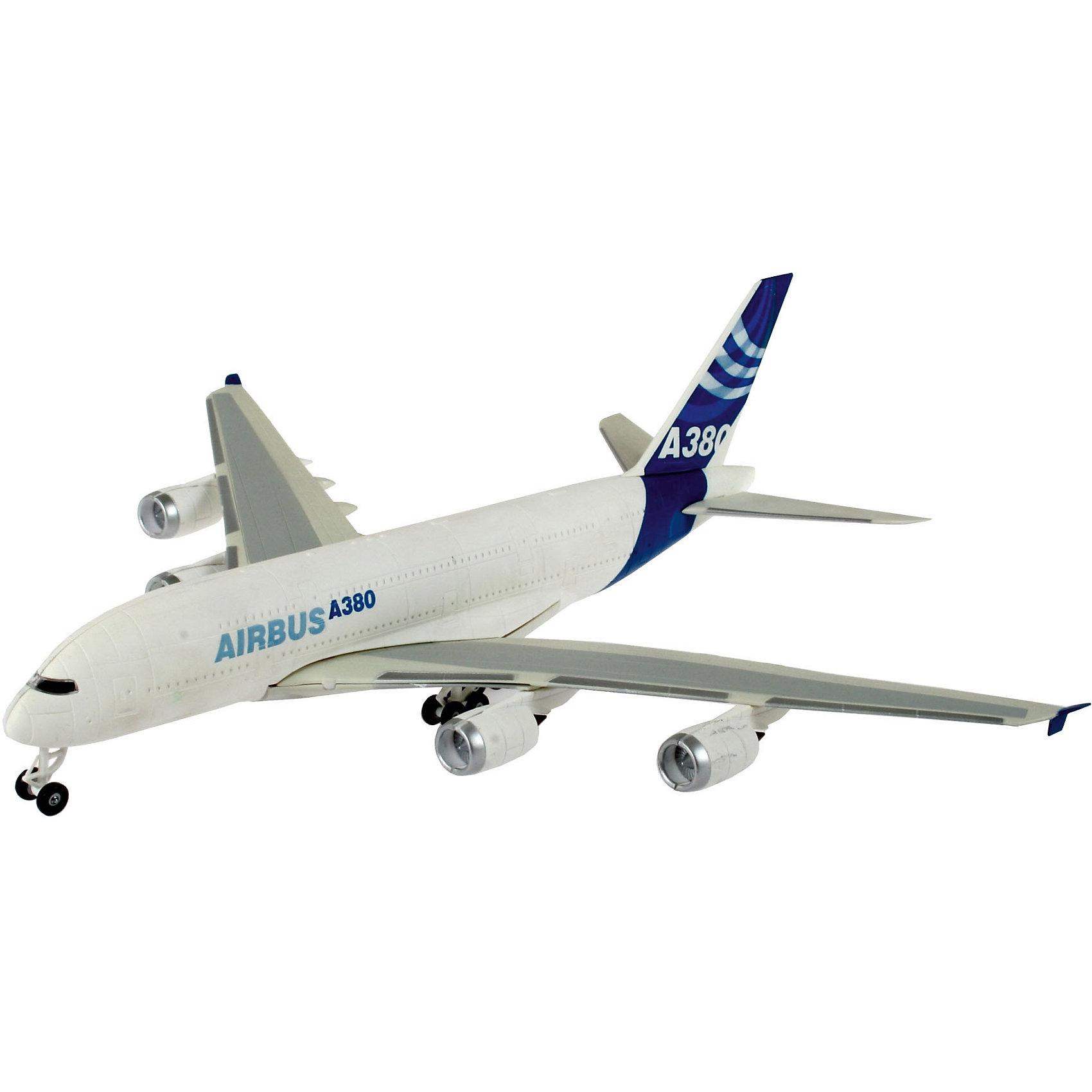 Сборка Пассажирский самолет Airbus A380 ДемонстрационныйМодели для склеивания<br>Модель самолета Airbus A380 Demonstrator является уменьшенной копией одноименного пассажирского самолета, впервые выпущенного  в 2005 году. <br>Масштаб: 1:288 <br>Количество деталей: 47 <br>Длина модели: 252 мм <br>Размах крыльев: 278 мм <br>Подойдет для детей старше 10-и лет. <br>Для сборки этой модели клей и краски вам не потребуются, соединение деталей происходит посредством специальных зажимов!<br><br>Ширина мм: 313<br>Глубина мм: 185<br>Высота мм: 53<br>Вес г: 245<br>Возраст от месяцев: 72<br>Возраст до месяцев: 132<br>Пол: Мужской<br>Возраст: Детский<br>SKU: 1871985