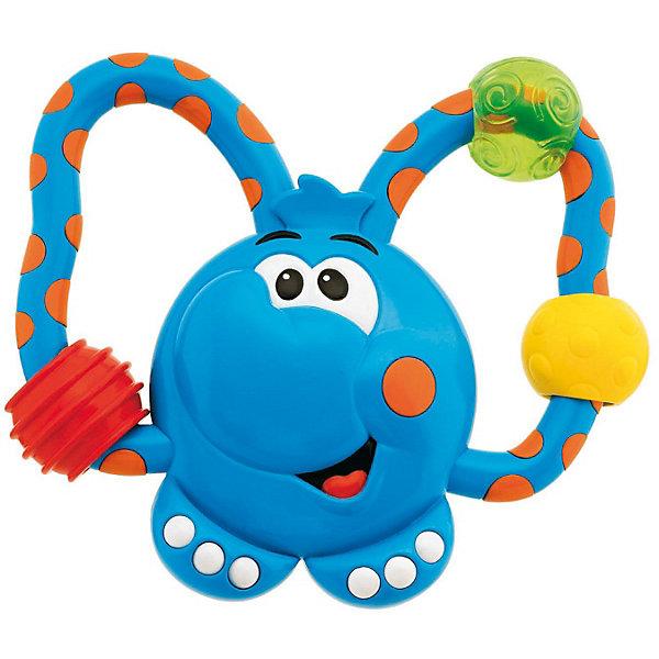 Погремушка-прорезыватель Слоненок, ChiccoИгрушки для новорожденных<br>Погремушка-прорезыватель Слоненок Chicco (Чико) - очаровательная погремушка в виде симпатичного слоника из серии Веселые сорванцы несомненно понравится Вашему малышу!<br><br>Эта легкая и удобная для ручек малыша погремушка с мягкими пластиковыми частями создана специально для того, чтоб облегчить прорезывание зубов Вашей крохи. Игрушка также сможет утешить малыша веселыми звуками. У слоника есть подвижные элементы, которые обязательно понравятся Вашей крохе.<br><br>Погремушку-прорезыватель Слоненок Chicco из серии Веселые сорванцы можно купить в нашем интернет-магазине.<br><br>Ширина мм: 204<br>Глубина мм: 144<br>Высота мм: 32<br>Вес г: 99<br>Возраст от месяцев: 3<br>Возраст до месяцев: 18<br>Пол: Унисекс<br>Возраст: Детский<br>SKU: 1873300