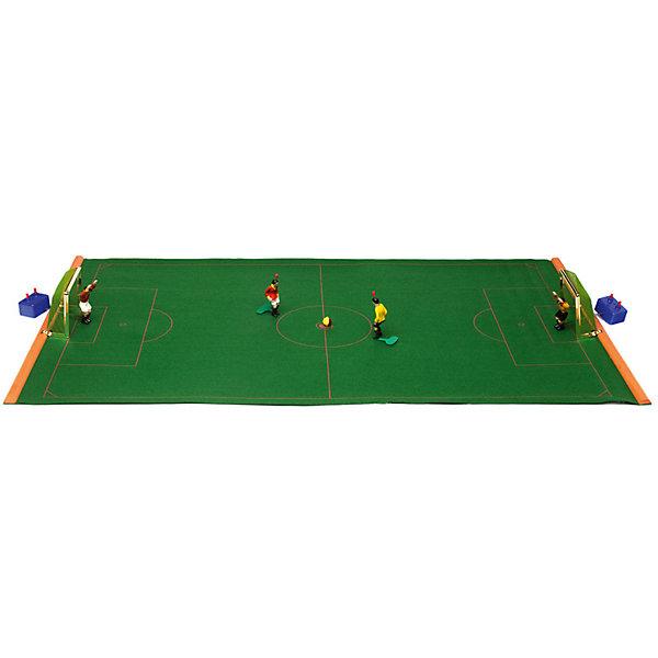 Футбол настольный Ретро 80 х 47см, TIPP-KICKИгровые наборы<br>Футбол настольный Ретро 80 х 47см, TIPP-KICK - игра станет отличным подарком не только ребенку, но и взрослому, любящему спортивные игры.<br>Футбол настольный TIPP-KICK Ретро выполнен в виде футбольного поля из зеленого сукна на деревянных планках-держателях. На футбольном поле легко устанавливаются пластиковые ворота с натянутой сеткой. Ловкий вратарь оснащенный специальным механизмом, позволяющим фигурке двигаться из положения стоя в положение лежа, вправо, влево и прямо, отразит любую атаку противника на ворота, которую смогут организовать игроки в Ваших ловких руках. Вратари и игроки раскрашены в цвет своей команды. Перед началом игры каждый участник выбирает себе один из двух цветов, в которые окрашен мяч. В течение матча по этим цветам будет определяться, кто должен наносить удар по мячу. Например, если мяч лежит белой стороной вверх – бьет игрок, выбравший белый цвет; если мяч лежит черной стороной вверх – бьет игрок, выбравший черный цвет. В перерыве матча игроки меняются сторонами поля и цветами мяча. Удары по мячу наносят, нажимая на кнопку на голове полевого игрока. Победителем объявляется игрок, забивший больше голов, чем соперник. Игра развивает ловкость, быстроту реакции, стремление к победе и соревновательные навыки.<br><br>Дополнительная информация:<br><br>- В наборе: футбольное поле (разметка поля 80х47см); 2 ворот золотого цвета; 2 вратаря на специальных механизмах, 2 игрока с встроенным механизмом; 2 двухцветных ребристых мяча; правила игры (на русском языке).)<br>- Материал: пластик<br>- Упаковка: подарочная жестяная красочная коробка<br>- Размер упаковки: 51,5х18х6 см.<br>- Вес: 1,2 кг.<br><br>Футбол настольный Ретро 80 х 47см, TIPP-KICK можно купить в нашем интернет-магазине.<br><br>Ширина мм: 501<br>Глубина мм: 172<br>Высота мм: 56<br>Вес г: 1000<br>Возраст от месяцев: 72<br>Возраст до месяцев: 120<br>Пол: Мужской<br>Возраст: Детский<br>SKU: 1876328
