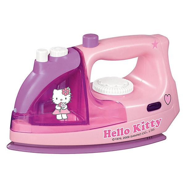 Simba Утюг Hello Kitty, 12/24Игрушечная бытовая техника<br>Маленькая хозяйка несомненно оценит симпатичный  функциональный утюжок Hello Kitty Утюг с приятной розовой расцветкой украшен логотипом кошечки Hello Kitty. Утюг обладает световыми и звуковыми эффектами: при включении начинает подсвечиваться и издавать реальные звуки работающего утюга. В утюг можно заливать воду, тогда при нажатии кнопки он начинает пускать пар или распылять воду.<br> <br>Дополнительная информация:<br><br>- Материалы: пластмасса.<br>- Аккумуляторы: 1.5V LR6 х 2 шт. (не входят в комплект).<br>- Длина утюга: 18 см.<br>- Размер упаковки: 21,5х18х10,5 см.<br>- Вес: 0,360 кг.<br><br>Отличный подарок, который наверняка порадует вашего ребенка!<br>Купить утюг можно в нашем магазине<br><br>Ширина мм: 212<br>Глубина мм: 106<br>Высота мм: 130<br>Вес г: 365<br>Возраст от месяцев: 36<br>Возраст до месяцев: 72<br>Пол: Женский<br>Возраст: Детский<br>SKU: 1882973