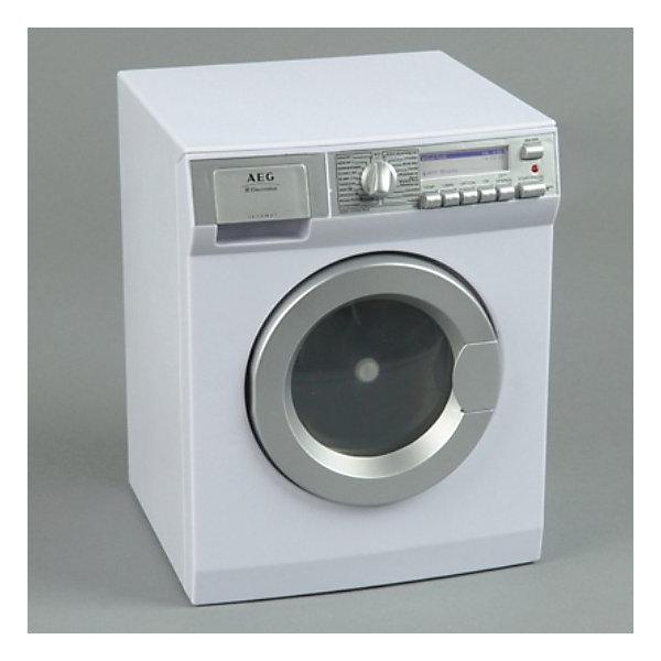 klein Стиральная машина AEGИгрушечная бытовая техника<br>Игрушка с реалистичными функциями от klein (Кляйн)<br><br>Подробнее:<br>- работает на батарейках<br>- с имитацией круговорота воды, дверца открывается<br>- с вращением по часовой/против часовой стрелки<br>- дисплей с подсветкой<br>- размеры (Д/Ш/В): в собранном состоянии 26 x 21,5 x 19,5 см<br><br>Батарейки (3 шт. типа LR 14) не входят в комплект.<br><br>Ширина мм: 260<br>Глубина мм: 215<br>Высота мм: 195<br>Вес г: 1450<br>Возраст от месяцев: 36<br>Возраст до месяцев: 1164<br>Пол: Женский<br>Возраст: Детский<br>SKU: 1900226