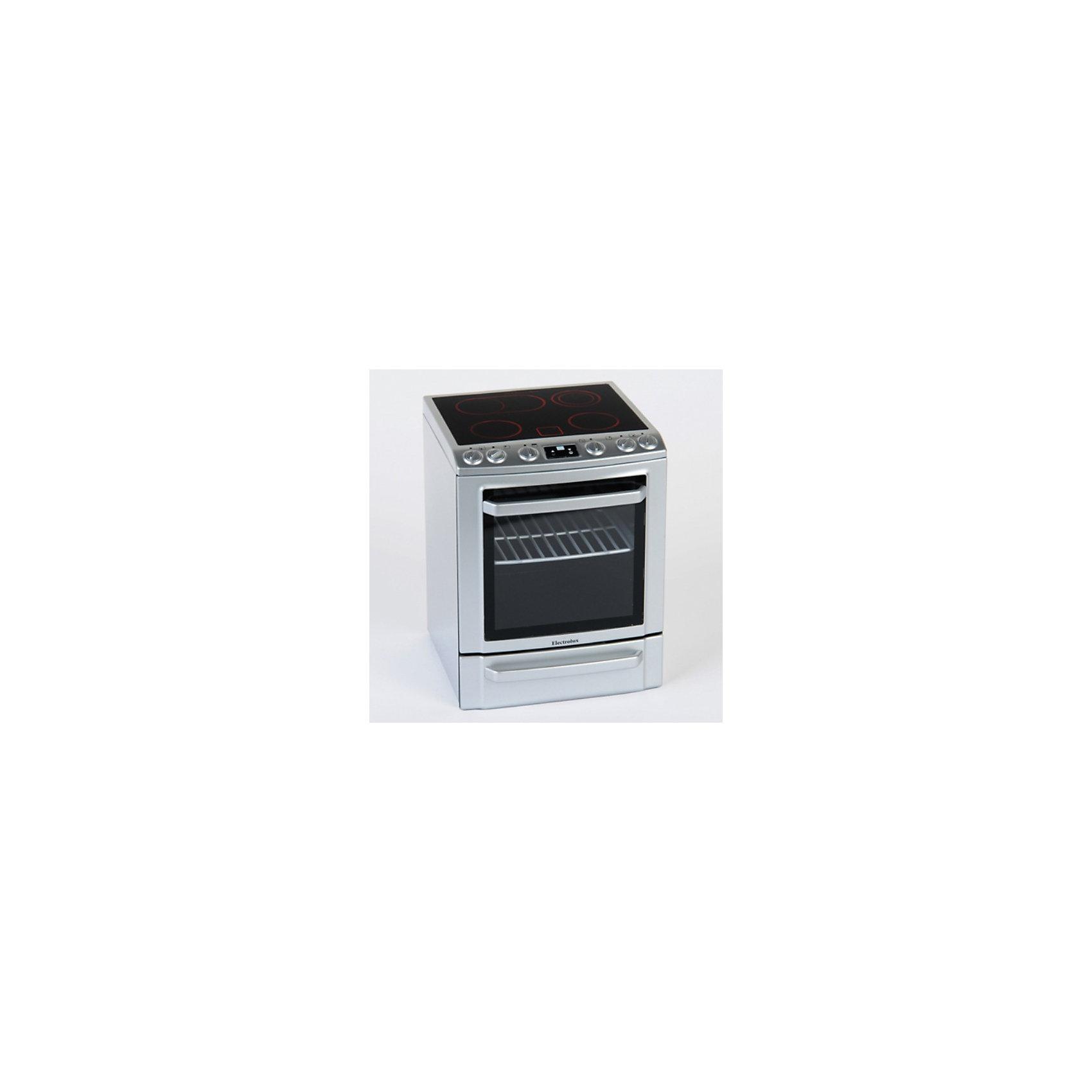 Плита со звуком и подсветкой Electrolux, KleinИгрушечная бытовая техника<br>Маленькая кухонная плита Electrolux, Klein (Кляйн) отличается от взрослой только размером, это точная копия фирменной стеклокерамической плиты Electrolux. Игрушка обладает всеми функциями и деталями настоящей кухонной плиты, в ней есть и конфорки для приготовления обеда и духовка с открывающейся дверцей и решеткой для выпечки. Кроме того, присутствуют световые и звуковые эффекты: при включении плиты конфорки подсвечиваются красным светом, а при установке посуды на конфорки игрушка будет издавать звуки готовящейся пищи. В выдвижном ящике можно хранить посуду (в комплект не входит).<br><br>Дополнительная информация<br><br>- Материал: пластик.<br>- Требуются батарейки: 3 х R6 (в комплект не входят).<br>- Размер упаковки: 26 х 21,5 х 19,5 см.<br>- Вес:1,53 кг.<br><br>Плиту со звуком и подсветкой Electrolux, Klein, можно купить в нашем интернет- магазине.<br><br>Ширина мм: 260<br>Глубина мм: 215<br>Высота мм: 195<br>Вес г: 1450<br>Возраст от месяцев: 36<br>Возраст до месяцев: 1164<br>Пол: Женский<br>Возраст: Детский<br>SKU: 1900246