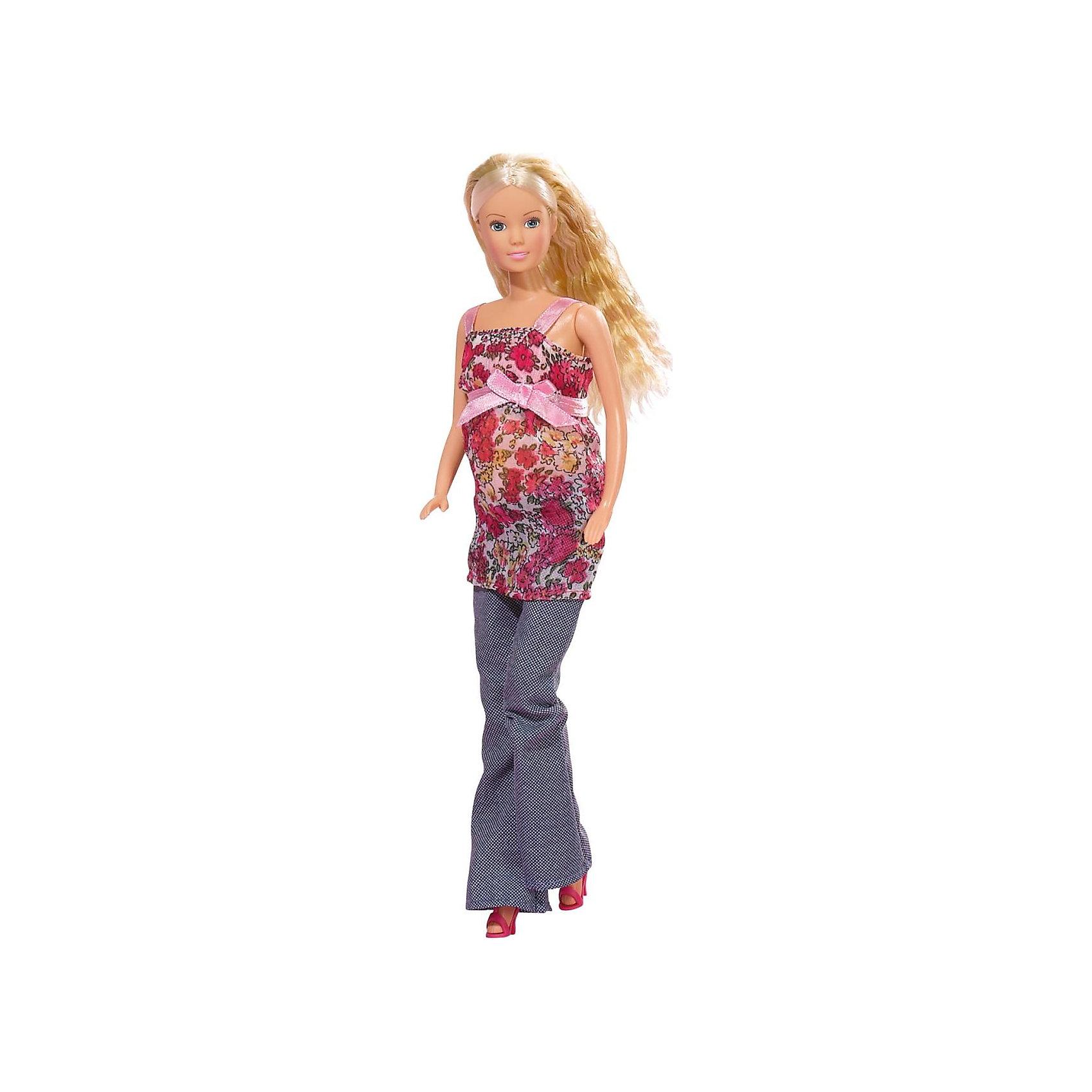 Набор Штеффи беременная, Steffi LoveБеременные куклы<br>Кукла Штеффи беременная. Младенец достается из живота. В комплект входят 13 аксессуаров для ухода за малышом.<br><br>Ширина мм: 331<br>Глубина мм: 124<br>Высота мм: 60<br>Вес г: 218<br>Возраст от месяцев: 36<br>Возраст до месяцев: 72<br>Пол: Женский<br>Возраст: Детский<br>SKU: 1904753