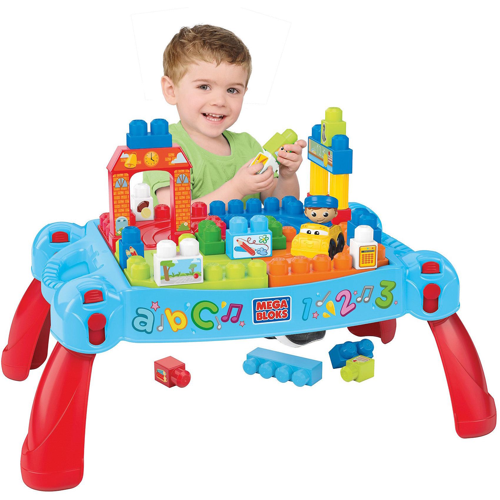 Игровой столик с конструктором Maxi, MEGA BLOKS, 25 дет.
