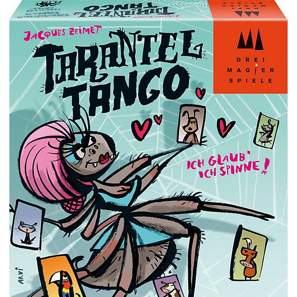 Игра Танго с Тарантулом, SchmidtНастольные игры для всей семьи<br>Игра Танго с Тарантулом, Schmidt - сможет разнообразить вечер с друзьям! Игра простая, но очень забавная. Помоги тарантулу найти пару для танцев! Но другие животные боятся его угрожающего вида и вскрикивают! Будь внимательным и артистичным и сможешь избавиться от своих карточек первым. Правила игры простые и понятные: положите Танго-тарантула на середину стола, перемешайте все 120 карточек и поровну распределите их между всеми игроками. Первый игрок прикладывает верхнюю карточку из своей стопки короткой стороной к одной из сторон карточки Танго-тарантула. После этого наступает очередь игрока слева. Карточки раскладываются в направлении по часовой стрелке. Перед тем как выложить новую карту из своей колоды, игрок должен изобразить животное, изображенное на карте предыдущего игрока. И наконец, если новая карта с Тарантулом входит в игру, все игроки должны хлопнуть рукой по столу.<br><br>Дополнительная информация:<br><br>- В комплекте: 120 карточек с изображением животных (собака, корова, ослик, коза, кошка, попугай), 5 карточек тарантула, Танго-тарантул (пятисторонняя карточка), правила игры;<br>- Количество: 2-5 игроков;<br>- Время игры: 15-20 минут;<br>- Игра для веселой компании;<br>- Размер упаковки: 11 x 3,5 x 11 см;<br>- Вес: 210 г<br><br>Игру Танго с Тарантулом, Schmidt можно купить в нашем интернет-магазине.<br>Ширина мм: 112; Глубина мм: 116; Высота мм: 35; Вес г: 216; Возраст от месяцев: 84; Возраст до месяцев: 228; Пол: Унисекс; Возраст: Детский; SKU: 1914159;