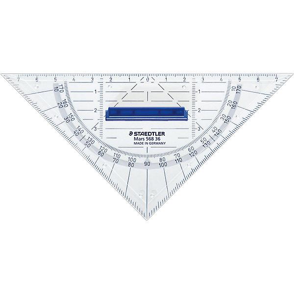 Геометрический треугольник Mars со съемной ручкой, 16 см, StaedtlerЧертежные принадлежности<br>Геометрический треугольник Mars® 568. Длина 16 см. Прозрачный. Съемная ручка и четкая нестираемая разметка делает работу с инструментом особенно удобной.<br>Ширина мм: 63; Глубина мм: 55; Высота мм: 5; Вес г: 19; Возраст от месяцев: 60; Возраст до месяцев: 144; Пол: Унисекс; Возраст: Детский; SKU: 1922224;