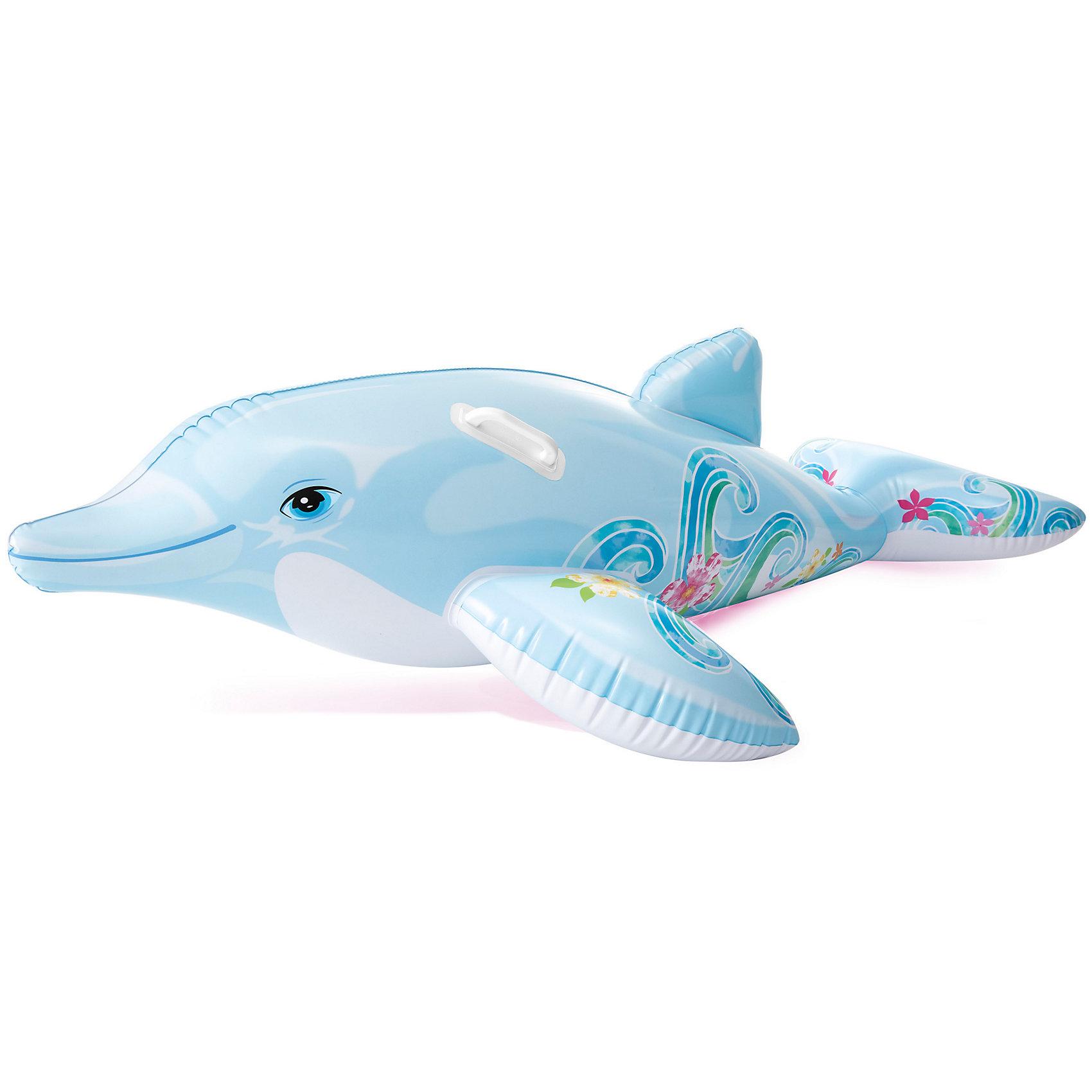 Дельфин надувной 175*66см с двумя ручками, IntexНадувной матрас для детей и родителей выполнен в форме дельфина. С ним так легко и не страшно плавать! Надувной матрас сделан из плотного высококачественного ПВХ.<br>Размер: 175 х 66 см.<br>Две ручки по бокам.<br><br>Ширина мм: 277<br>Глубина мм: 200<br>Высота мм: 35<br>Вес г: 139<br>Возраст от месяцев: 36<br>Возраст до месяцев: 1164<br>Пол: Унисекс<br>Возраст: Детский<br>SKU: 1925243