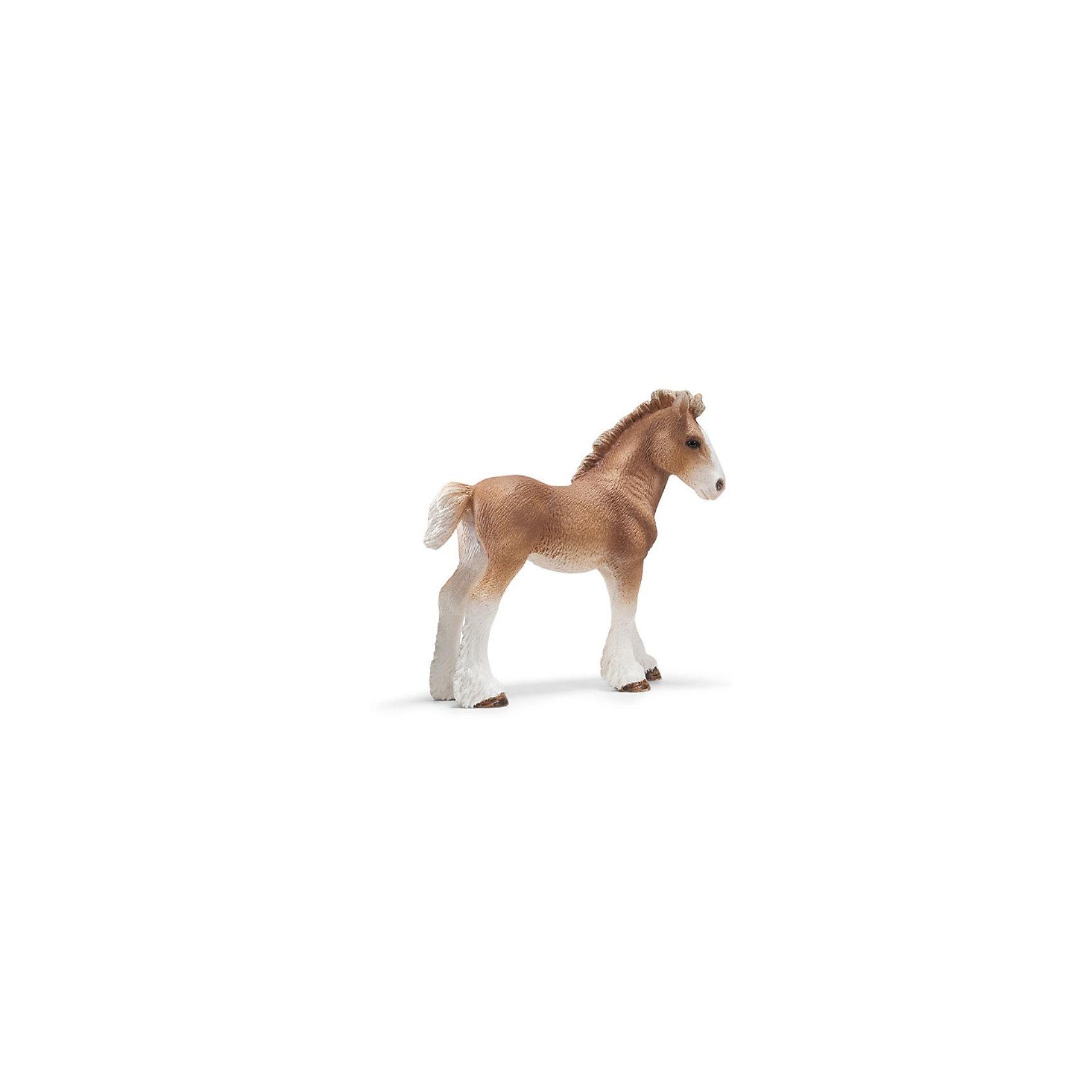 Schleich Schleich Жеребенок клейдесдальской породы. Серия Лошади бычки казахской белоголовой породы