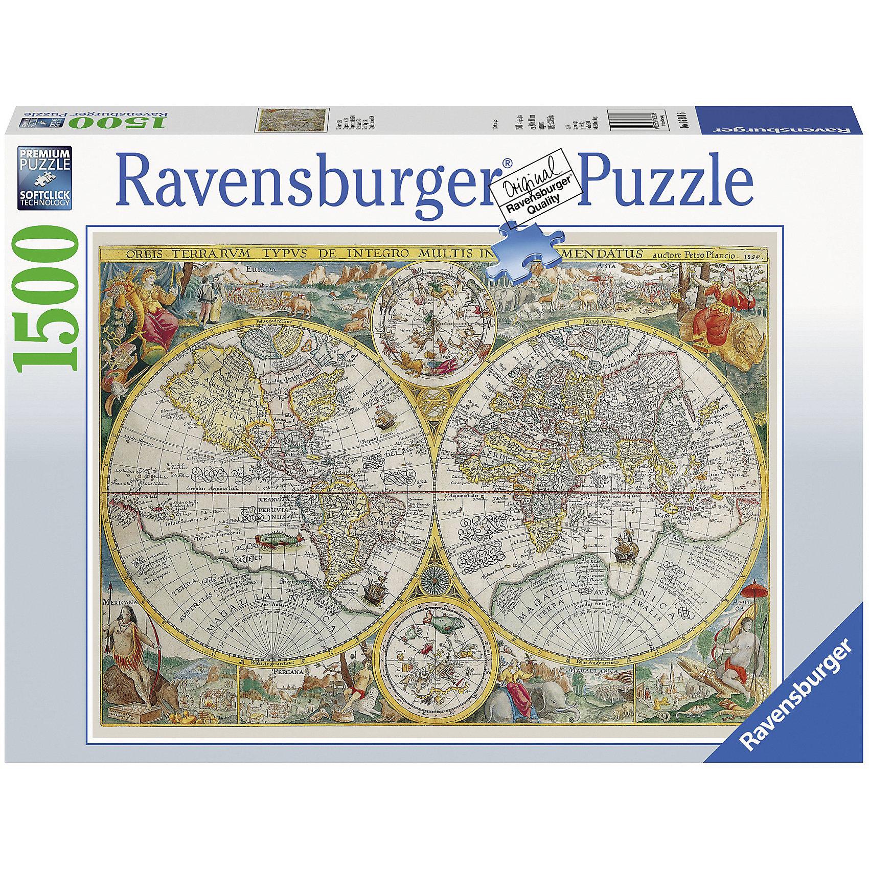 Пазл «Историческая карта» 1500 деталей, Ravensburger