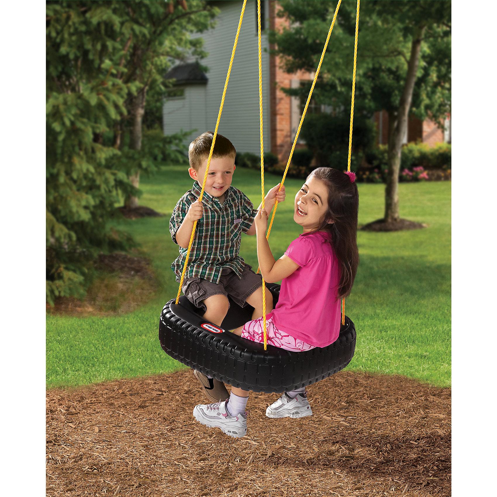 Сиденье для качелей, Little TikesОригинальное Сиденье для качелей, Little Tikes (Литтл Тайкс) выполнено в виде квадратной шины с отверстием внутри, куда можно свешивать ноги во время катания, подойдет для участка на даче или для помещения, если внутри есть возможность подвесить сиденье. <br><br>Характеристики:<br>-Широкое колесо способное вместить одновременно двое детей<br>-Длина веревок легко регулируется под рост ребенка<br>-Максимально допустимый вес ребенка 27 кг<br>-Качели просто крепятся, безопасны и прочны <br><br>Комплектация: сиденье, веревочные крепления<br><br>Дополнительная информация:<br>-Вес в упаковке: 3,2 кг<br>-Размеры в упаковке: 60х61х18 см<br>-Материалы: пластик, полипропилен (веревки)<br>-Размеры сиденья: 56x56x16см<br><br>Легкая конструкция, которая не требует сложной сборки и специальных креплений, станет прекрасным решением для организации активного отдыха Вашего ребенка и увлекательных игр с друзьями!<br><br>Сиденье для качелей, Little Tikes (Литтл Тайкс) можно купить в нашем магазине.<br><br>Ширина мм: 175<br>Глубина мм: 605<br>Высота мм: 605<br>Вес г: 3400<br>Возраст от месяцев: 36<br>Возраст до месяцев: 1164<br>Пол: Унисекс<br>Возраст: Детский<br>SKU: 1980717