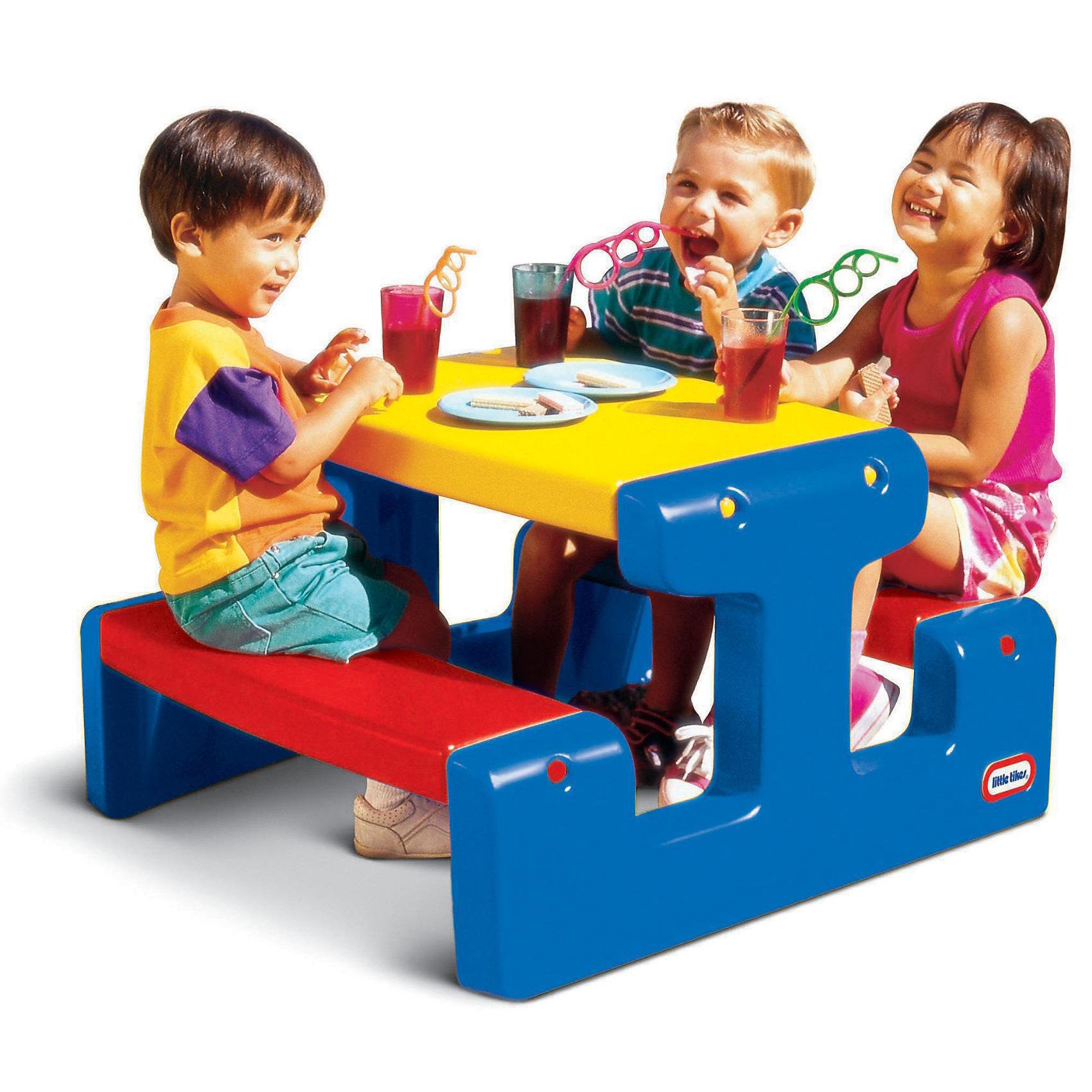 Стол с двумя скамейками (на 4-х детей), Little Tikes