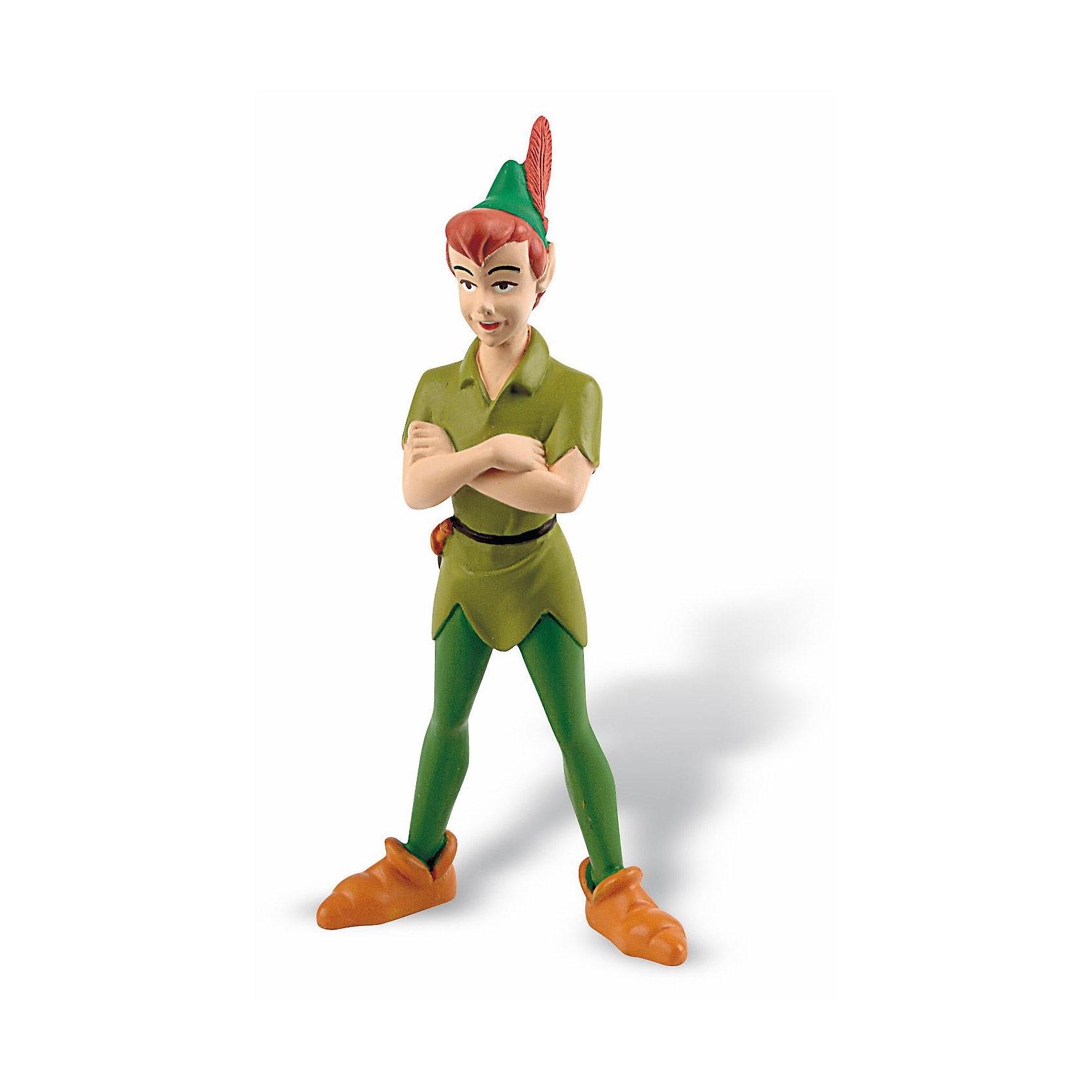 Фигурка Питер Пэн,  DisneyФигурка Питера Пэна из мультфильма студии Уолта Диснея «Питер Пэн». Мальчик, который не хочет взрослеть и всегда остается юным. Питер Пэн живет на острове, в компании пропавших вКенсингтонских садах мальчиков. У него есть собственная фея Динь-Динь. Злейший враг Питера Пэна – капитан Крюк. Фигурка Питера Пэна полностью соответствует его персонажу из мультфильма. Игрушка выполнена из высококачественных нетоксичных материалов, безопасна для детей. <br><br>Дополнительная информация:<br><br>Размер:9,5см <br>Материал: термопластичный каучук высокого качества. <br> <br><br>Фигурку Питер Пэн,  Disney можно купить в нашем магазине.<br><br>Ширина мм: 40<br>Глубина мм: 20<br>Высота мм: 95<br>Вес г: 30<br>Возраст от месяцев: 36<br>Возраст до месяцев: 1164<br>Пол: Унисекс<br>Возраст: Детский<br>SKU: 1985054