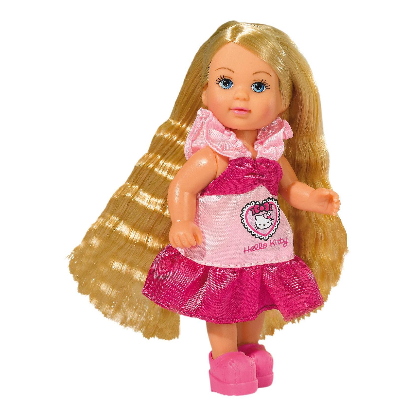 Simba Еви с длинными волосами + 2 расчески + заколочки, Hello Kitty simba мини кукла еви в костюме hello kitty цвет белый черный