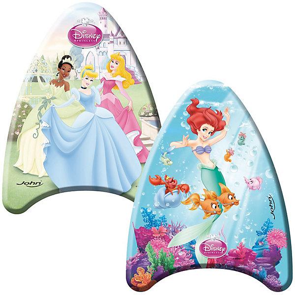Доска для плавания ПринцессыКруги и нарукавники<br>Доска для плавания с изображением героев мультфильма Disney Princess  прекрасно подойдет для обучения плаванию Вашего ребенка. <br> Доска для плавания имеет яркий дизайн и небольшой вес. Ребенок без труда сможет удерживаться на плоскости, а форма доски не позволит ему опрокинуться. <br>Размер: 43 см.  Состав: полимерные материалы. <br><br> Внимание! <br> Не является спасательным средством! Использовать только под наблюдением опытного инструктора и при непосредственном участии родителей!<br>Ширина мм: 432; Глубина мм: 322; Высота мм: 43; Вес г: 78; Цвет: mehrfarbig; Возраст от месяцев: 36; Возраст до месяцев: 96; Пол: Женский; Возраст: Детский; SKU: 1994187;