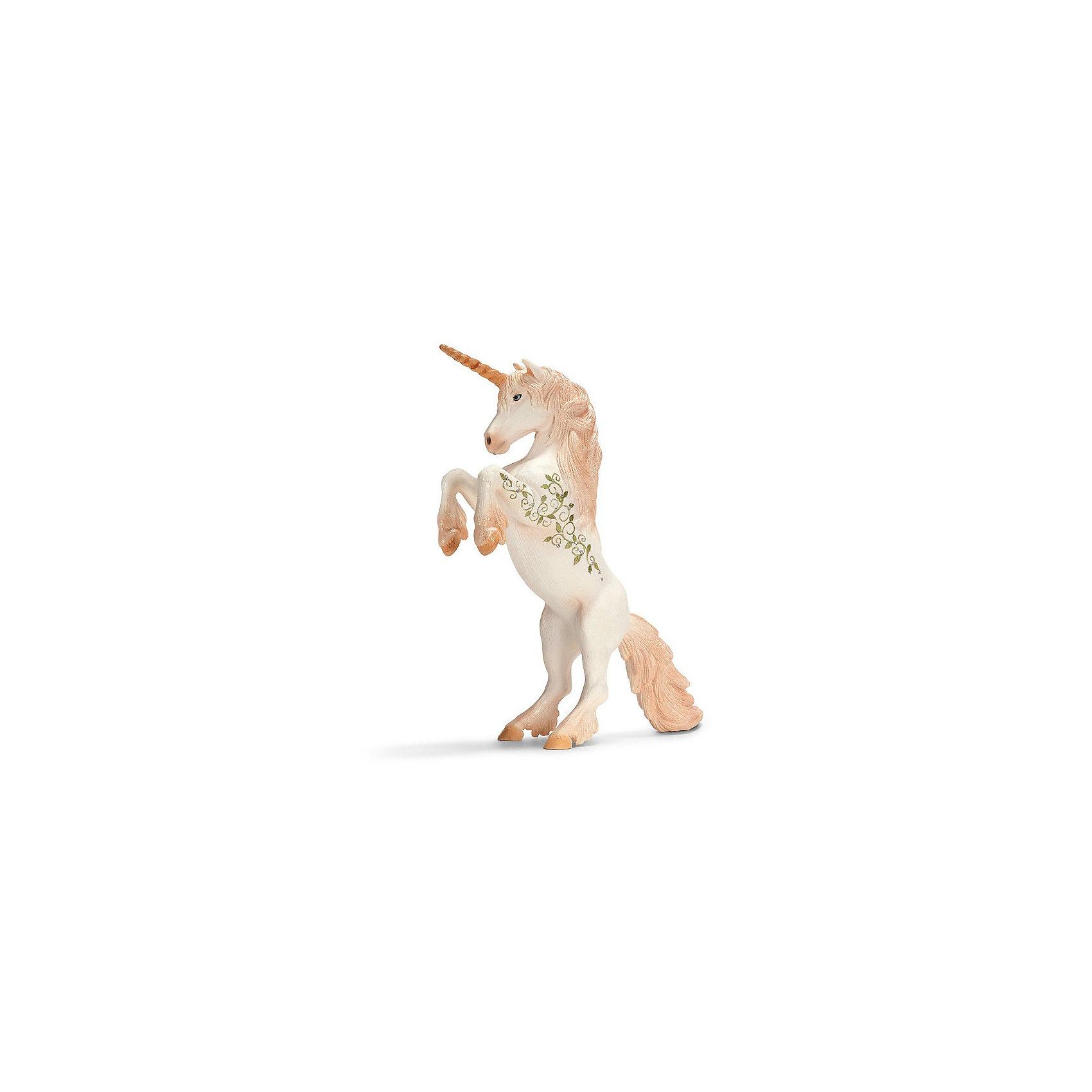 Schleich Единорог, вставший на дыбы. Серия ЭльфыКоллекционные и игровые фигурки фирмы Schleich (Шляйх) из тематической серии Эльфы: единорог, о котором сложено много сказок и легенд! <br><br>Единорог – это прекрасное дикое животное. Не каждому удается его увидеть, потому что в одно мгновенье он может исчезнуть в чаще леса. <br><br>Волшебное существо, которое удостаивает своей дружбой избранных эльфов.<br><br><br><br>Подробнее:<br><br>- Размеры упаковки (ДxШxВ): прибл. 15 x 8,5 x 18 см<br>- Фигурка раскрашена вручную<br><br>Ширина мм: 188<br>Глубина мм: 159<br>Высота мм: 97<br>Вес г: 196<br>Возраст от месяцев: 36<br>Возраст до месяцев: 96<br>Пол: Женский<br>Возраст: Детский<br>SKU: 1995579