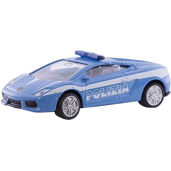 SIKU 1405 Полицейская машинаМашинки<br>Полицейская машина 1405, Siku, станет замечательным подарком для автолюбителей всех возрастов. Модель представляет из себя реалистичную копию спортивного автомобиля Lamborghini Gallardo, выполненную в виде полицейского автомобиля. Машинка отличается высокой степенью детализации и тщательной проработкой всех элементов. Автомобиль оснащен прозрачными лобовыми стеклами, в салоне можно увидеть сиденья и руль, на крыше установлен проблесковый маячок, имеются передние и задние фары. Колеса вращаются, широкие шины оборудованы спортивными колесными дисками. Корпус модели выполнен из металла, детали изготовлены из ударопрочной пластмассы.<br><br>Дополнительная информация:<br><br>- Материал: металл, пластик.<br>- Масштаб: 1:55.<br>- Размер: 7,8 x 3,4 x 2,4 см.<br>- Размер упаковки: 10 х 8 х 4 см.<br>- Вес: 54 гр.<br><br> 1405 Полицейскую машину, Siku, можно купить в нашем интернет-магазине.<br>Ширина мм: 96; Глубина мм: 78; Высота мм: 38; Вес г: 57; Возраст от месяцев: 36; Возраст до месяцев: 96; Пол: Мужской; Возраст: Детский; SKU: 1999729;