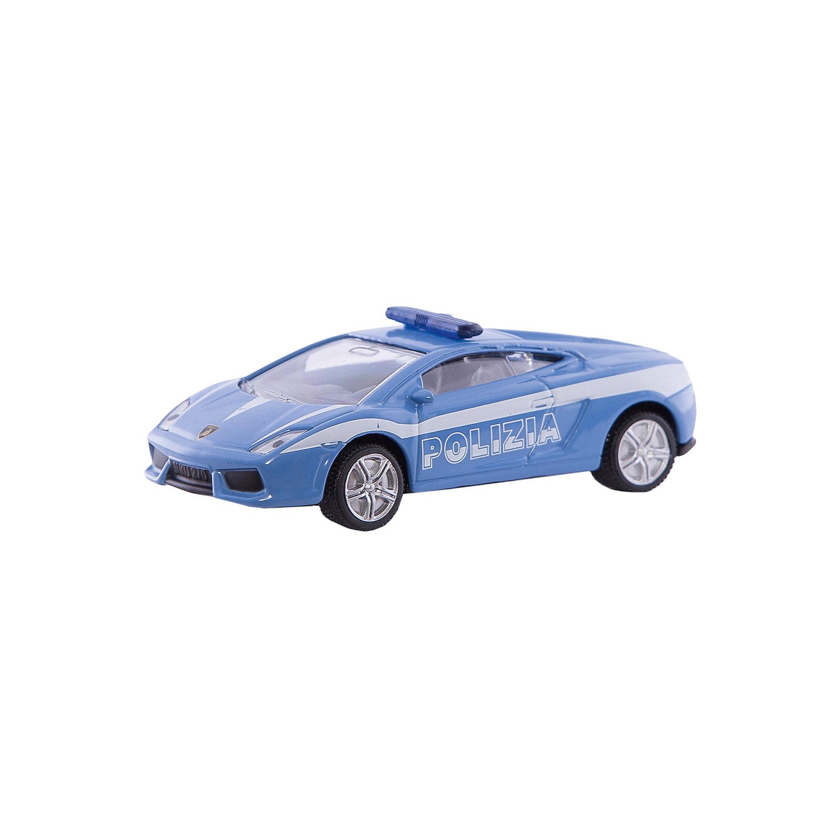 SIKU 1405 Полицейская машинаКоллекционные модели<br>Полицейская машина 1405, Siku, станет замечательным подарком для автолюбителей всех возрастов. Модель представляет из себя реалистичную копию спортивного автомобиля Lamborghini Gallardo, выполненную в виде полицейского автомобиля. Машинка отличается высокой степенью детализации и тщательной проработкой всех элементов. Автомобиль оснащен прозрачными лобовыми стеклами, в салоне можно увидеть сиденья и руль, на крыше установлен проблесковый маячок, имеются передние и задние фары. Колеса вращаются, широкие шины оборудованы спортивными колесными дисками. Корпус модели выполнен из металла, детали изготовлены из ударопрочной пластмассы.<br><br>Дополнительная информация:<br><br>- Материал: металл, пластик.<br>- Масштаб: 1:55.<br>- Размер: 7,8 x 3,4 x 2,4 см.<br>- Размер упаковки: 10 х 8 х 4 см.<br>- Вес: 54 гр.<br><br> 1405 Полицейскую машину, Siku, можно купить в нашем интернет-магазине.<br><br>Ширина мм: 96<br>Глубина мм: 78<br>Высота мм: 38<br>Вес г: 57<br>Возраст от месяцев: 36<br>Возраст до месяцев: 96<br>Пол: Мужской<br>Возраст: Детский<br>SKU: 1999729