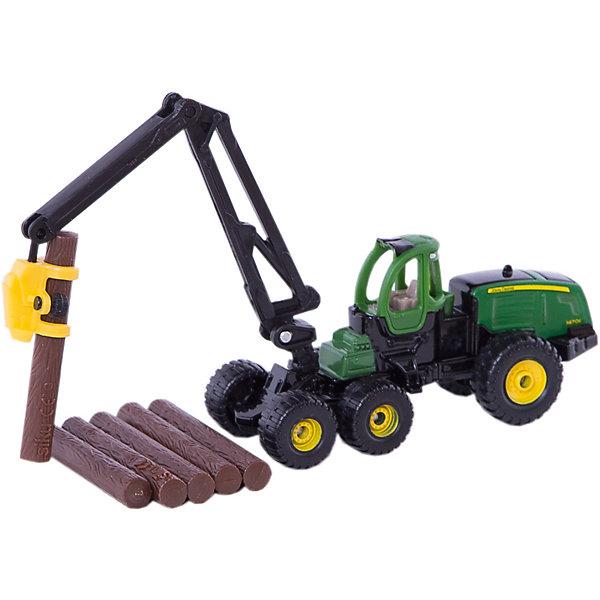 SIKU 1652 Лесозаготовительная машина John Deere 1:87Машинки<br>SIKU 1652 Лесозаготовительная машина John Deere 1:87<br><br>Характеристики:<br><br>• Возраст: от 3 лет<br>• Цвет: зеленый<br>• Материал: пластик, металл<br>• Размер игрушки: 18 см x 3,8 см x 4,5 см<br>• В комплекте: трактор, связка бревен<br>• Страна: Германия<br><br>Высококачественная сборка машинки позволит ребенку играть, не боясь, что что-то сломается в процессе. Крепкие колеса и схожесть с настоящим трактором сделает игру более реальной. С помощью такого трактора ребенок сможет узнать обо всех функциях, которые выполняет настоящая лесозаготовительная машина. Игрушка не потеряет цвет и не выделяет токсичных веществ, поэтому полностью безопасна для детей.<br><br>SIKU 1652 Лесозаготовительная машина John Deere 1:87 можно купить в нашем интернет-магазине.<br><br>Ширина мм: 197<br>Глубина мм: 78<br>Высота мм: 38<br>Вес г: 97<br>Возраст от месяцев: 36<br>Возраст до месяцев: 96<br>Пол: Мужской<br>Возраст: Детский<br>SKU: 1999736