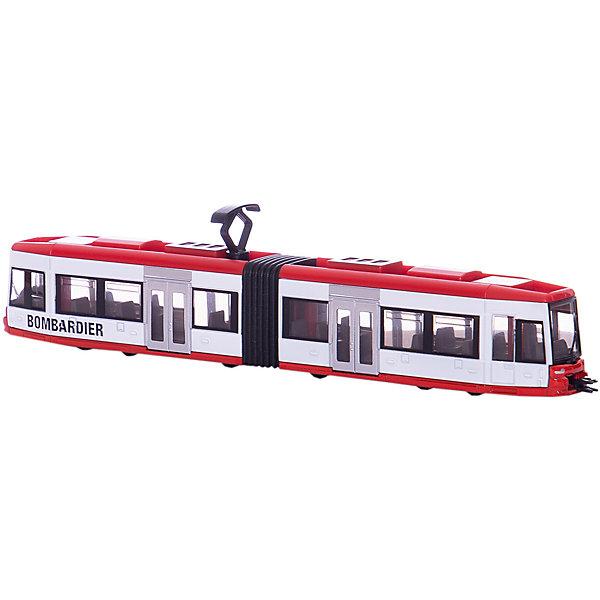 SIKU 1895 ТрамвайМашинки<br>Трамвай фирмы SIKU. <br><br>Ассортимент моделей общественного транспорта дополняет трамвай, выполненный в стиле всемирно известной фирмы-производителя транспортных средств Bombardier. Трамвай состоит из двух вагонов, соединенных гармошкой, оснащен реалистичными осями, а также сцепными устройствами спереди и сзади, с помощью которых можно сцепить друг с другом несколько трамваев.<br><br>Размер Д/Ш/В: 24 см x 3 см x 5,8 см<br><br>+++Примечание+++<br>Фирма SIKU оставляет за собой право на изменение цвета и технических характеристик моделей. При демонстрации новинок в ряде случаев используются оригинальные фотографии и прототипы. Поставляемая модель может отличаться от представленной на фотографии.<br><br>Ширина мм: 282<br>Глубина мм: 78<br>Высота мм: 48<br>Вес г: 221<br>Возраст от месяцев: 36<br>Возраст до месяцев: 96<br>Пол: Мужской<br>Возраст: Детский<br>SKU: 1999744