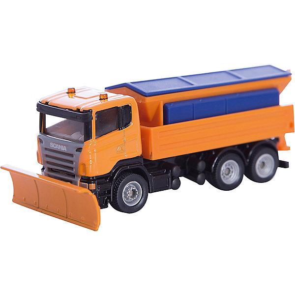 SIKU 1898 Снегоуборочная машинаМашинки<br>Модель SIKU (СИКУ) 1898 Снегоуборочная машина обеспечит дорожную безопасность игрушечного городка.<br><br>Корпус автомобиля и кузов выполнены из металла, лобовое и боковые стёкла из прозрачной тонированной пластмассы, колёса выполнены из резины и вращаются, можно катать. Крышка кузова открывается, можно чего-нибудь насыпать. Разбрасыватель песка поднимается и опускается. Передний отвал регулируется, можно менять угол атаки.<br><br>Дополнительная информация:<br>-Размер игрушки: 11 х 4,7 х 4 см <br>-Масштаб: 1:87<br>-Материал: металл, пластиковые элементы<br><br>Интересная модель снегоуборочной машины прекрасно подходит для мальчишеских сюжетно-ролевых игр.<br><br>SIKU (СИКУ) 1898 Снегоуборочную машину можно купить в нашем магазине.<br>Ширина мм: 159; Глубина мм: 81; Высота мм: 68; Вес г: 124; Возраст от месяцев: 36; Возраст до месяцев: 96; Пол: Мужской; Возраст: Детский; SKU: 1999747;