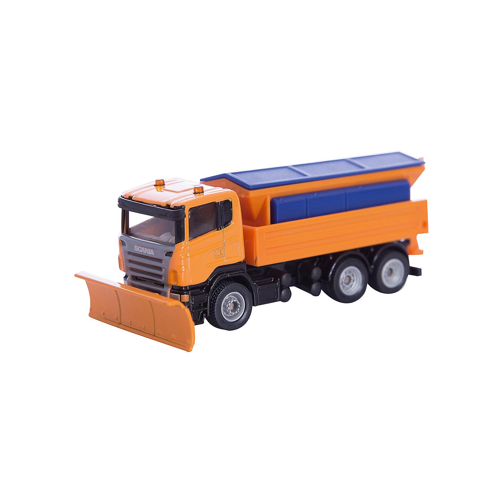 SIKU 1898 Снегоуборочная машинаМашинки<br>Модель SIKU (СИКУ) 1898 Снегоуборочная машина обеспечит дорожную безопасность игрушечного городка.<br><br>Корпус автомобиля и кузов выполнены из металла, лобовое и боковые стёкла из прозрачной тонированной пластмассы, колёса выполнены из резины и вращаются, можно катать. Крышка кузова открывается, можно чего-нибудь насыпать. Разбрасыватель песка поднимается и опускается. Передний отвал регулируется, можно менять угол атаки.<br><br>Дополнительная информация:<br>-Размер игрушки: 11 х 4,7 х 4 см <br>-Масштаб: 1:87<br>-Материал: металл, пластиковые элементы<br><br>Интересная модель снегоуборочной машины прекрасно подходит для мальчишеских сюжетно-ролевых игр.<br><br>SIKU (СИКУ) 1898 Снегоуборочную машину можно купить в нашем магазине.<br><br>Ширина мм: 160<br>Глубина мм: 83<br>Высота мм: 68<br>Вес г: 129<br>Возраст от месяцев: 36<br>Возраст до месяцев: 96<br>Пол: Мужской<br>Возраст: Детский<br>SKU: 1999747