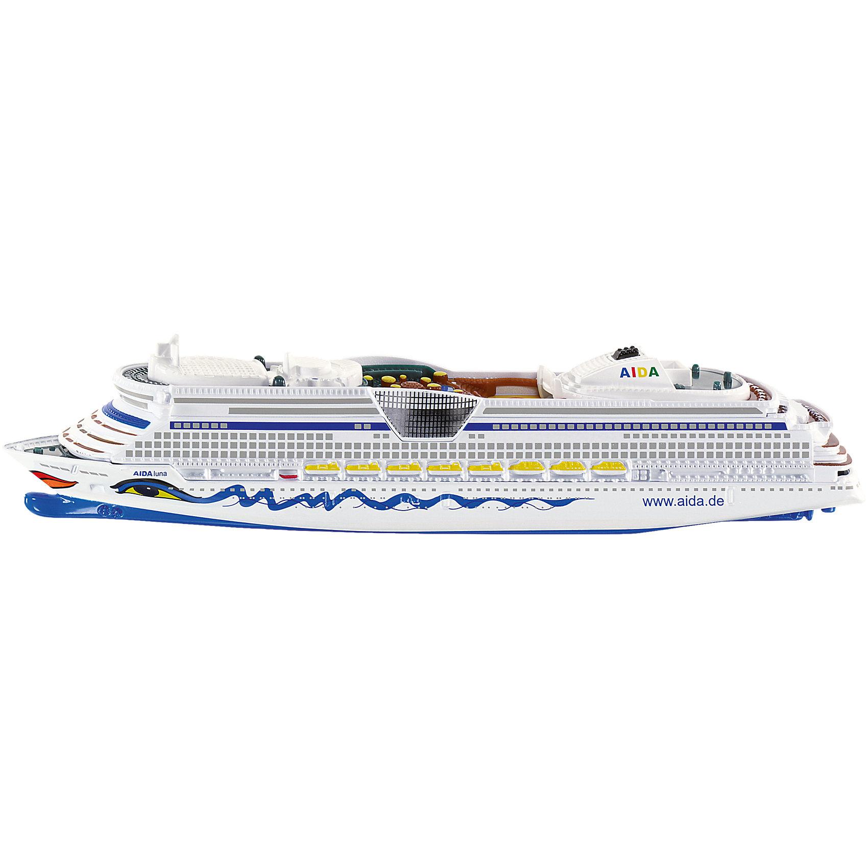 SIKU 1720 Круизный лайнерКорабли и лодки<br>SIKU (СИКУ) 1720 Круизный лайнер выполнен в необычном для SIKU (СИКУ) масштабе 1:1400 и отличается подходящим для детей размером.<br><br>Эта уменьшенная копия 250-метрового лайнера AIDALuna, который совершает путешествия по Балтийскому и Северному морям, а так же выходит в Атлантический океан. Днище выполнено из металла, а корпус корабля из ударопрочной пластмассы с очень тщательной проработкой деталей. Раскраска модели соответствует оригинальной. Модель не предназначена для пускания по воде.<br><br>Дополнительная информация:<br>-Размеры: 18.2 x 2.3 x 3.8 см<br>-Материал: металл с элементами пластмассы<br><br>Модель круизного лайнера обязательно понравится мальчикам!<br><br>SIKU (СИКУ) 1720 Круизный лайнер можно купить в нашем магазине.<br><br>Ширина мм: 234<br>Глубина мм: 76<br>Высота мм: 53<br>Вес г: 125<br>Возраст от месяцев: 36<br>Возраст до месяцев: 96<br>Пол: Мужской<br>Возраст: Детский<br>SKU: 1999748