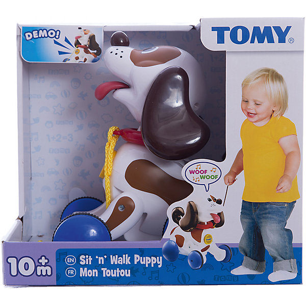 Развивающая игрушка-каталка Щенок, TOMYИгрушки каталки<br>Великолепная развивающая игрушка-каталка Щенок от известного бренда TOMY (Томи) идеально подойдёт Вашему малышу для прогулок!<br><br>Если Ваш малыш потянет за верёвочку, щенок начнёт задорно лаять, следуя за малышом.<br><br>Игрушка-собачка ведёт себя почти как живая! Если ребёнок будет катать её очень долго, она начнет жалобно скулить.<br><br>Кроме удовольствия, данная игрушка способствует развитию важных навыков у Вашего ребёнка в возрасте от 10 месяцев. У вашего малыша появиться желание много ходить, что повысит его активность, а также будет развиваться координация и пространственное мышление. И всё это таким простым непосредтвенным путём! Порадуйте Вашего малыша этим волшебным питомцем!<br><br>Дополнительная информация:<br>Материал: высококачественная пластмасса<br>Питание: батарейки 2 х АА (есть в комплекте)<br>Размер игрушки: 20 х 15 х 23 см<br>Размер упаковки: 31 х 20 х 25 см<br>Вес: 400 гр (с упаковкой)<br><br>Этого удивительного интерактивного друга Щенка от Томи Вы можете купить в нашем интернет-магазине.<br><br>Ширина мм: 266<br>Глубина мм: 297<br>Высота мм: 198<br>Вес г: 946<br>Возраст от месяцев: 10<br>Возраст до месяцев: 36<br>Пол: Унисекс<br>Возраст: Детский<br>SKU: 2001239