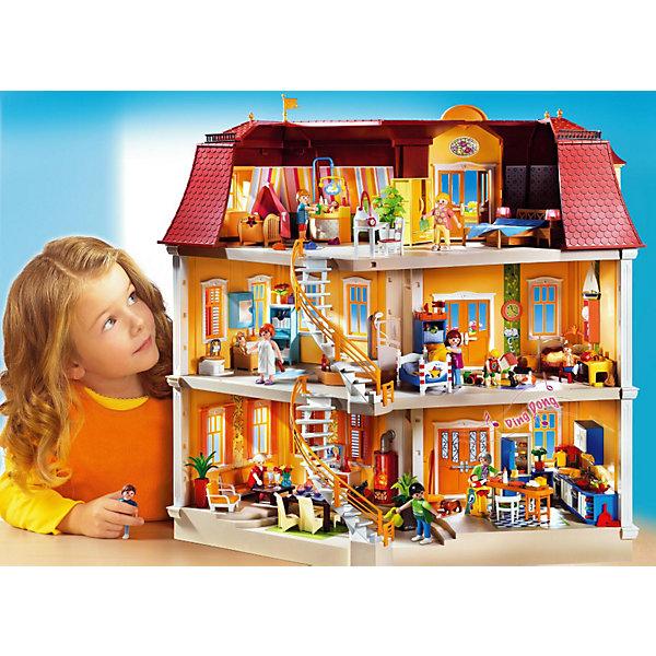 PLAYMOBIL 5302 Кукольный дом: Особняк с двумя лестницамиПластмассовые конструкторы<br>Известный бренд  Playmobil (Плеймобил) дарит своим  друзьям  игровой набор с элементами конструктора Особняк с двумя лестницами<br>Мечта для девчонок - особняк для кукол с комнатами на 3-х этажах, внутри 2 изогнутые лестницы и комнаты, которые еще предстоит обустроить. <br>Фасад дома: парадная лестница, дверь с электронным звонком, 2 балкона с цветами и многочисленные окна со ставнями.<br><br>В наборе: <br>- детали для сборки дома, <br>- 4 балконных ящика с цветами, <br>- 3 цветочных горшка, <br>- трюмо с зеркалом и 2 персонажа - юноша и девушка (высота 7,5 см). <br>Общее количество деталей: 433.<br><br>Внимание: мебель и аксессуары для комнат в набор не входят и приобретаются отдельно - Серия Кукольный дом<br><br>Игрушки от немецкого бренда Playmobil отличаются высоким качеством и надежностью. <br>Замечательное качество игрушек Playmobil — возможность совмещать наборы друг с другом, раздвигая границы игры до бесконечности. <br>Придумывайте и создавайте свои истории вместе с игрушками бренда Playmobil!<br><br>Ширина мм: 615<br>Глубина мм: 515<br>Высота мм: 255<br>Вес г: 6665<br>Возраст от месяцев: 48<br>Возраст до месяцев: 120<br>Пол: Женский<br>Возраст: Детский<br>SKU: 2002393