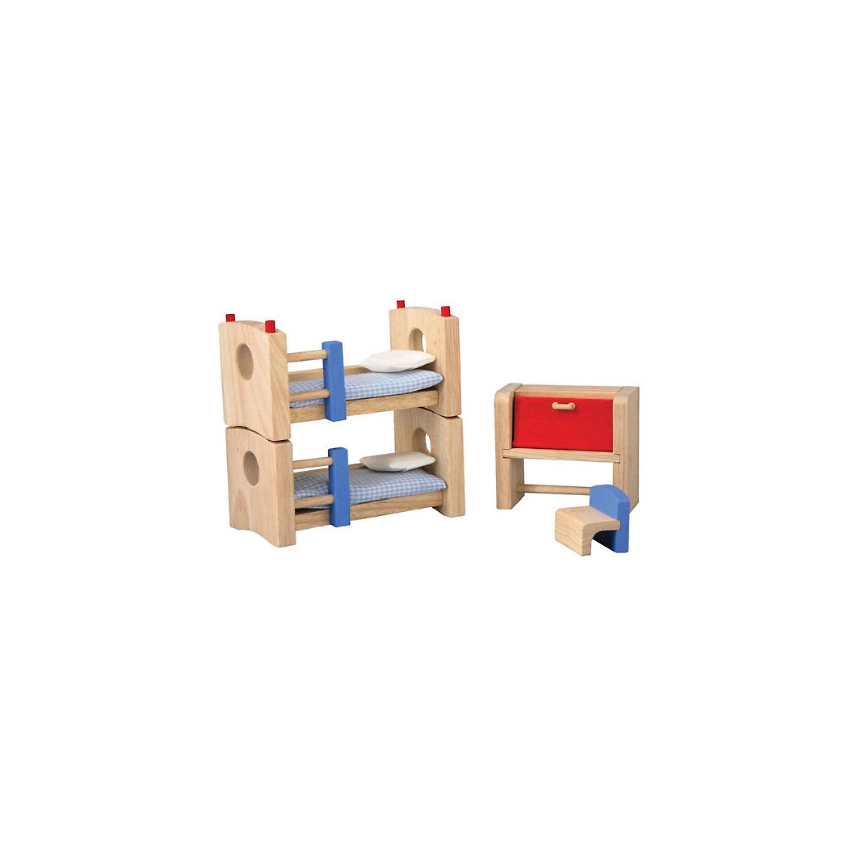 PLAN TOYS 7304 Детская NeoДекоративный набор мебели для кукольных домиков PlanToys. <br><br>В комплекте: двухярусная кровать (превращается в две обычных кровати), шкафчик, который можно трансформировать в стол и  табурет.<br><br>Дополнительная информация:<br><br>Размер двухярусной кровати: 7.0 x 14.0 x 14.0 см<br>Масштаб: 1:12<br><br>PLAN TOYS 7304 Детская Neo можно купить в нашем магазине.<br><br>Ширина мм: 193<br>Глубина мм: 192<br>Высота мм: 81<br>Вес г: 487<br>Возраст от месяцев: 36<br>Возраст до месяцев: 72<br>Пол: Женский<br>Возраст: Детский<br>SKU: 2017241