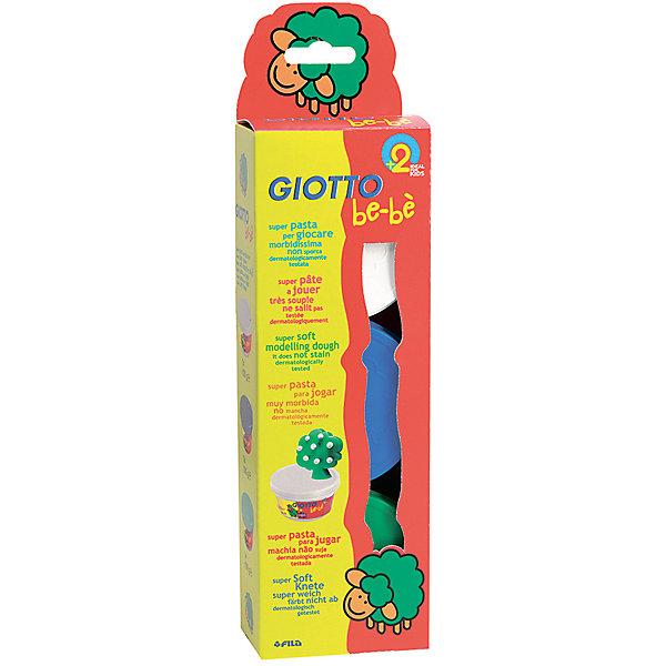 Мягкая паста для моделирования, 3шт х 100 г, белый, зеленый, синий.Масса для лепки<br>Характеристики товара:<br><br>• в наборе: мягкая паста (3 цвета по 100 грамм);<br>• материал: натуральные компоненты, пластик;<br>• цвет пасты: синий, белый, зеленый;<br>• размер упаковки: 29х5х28 см;<br>• вес: 740 грамм;<br>• возраст: от 2 лет.<br><br>Набор Giotto be-be Super Modelling Dough подходит для лепки и моделирования. Паста изготовлена из натуральных компонентов, поэтому подходит даже для самых юных скульпторов. В набор входят 3 баночки с пастой: белая, зеленая, синяя.<br><br>Паста имеет мягкую, приятную консистенцию. Она легко размягчается, не липнет к рукам и быстро обретает желаемую форму. Не оставляет следов, не пачкает руки. <br><br>Giotto (Джотто) be-be Super Modelling Dough пасту для моделирования, 3шт*100 гр, бел, син, зел можно купить в нашем интернет-магазине.<br>Ширина мм: 323; Глубина мм: 88; Высота мм: 51; Вес г: 475; Возраст от месяцев: 24; Возраст до месяцев: 60; Пол: Унисекс; Возраст: Детский; SKU: 2021029;