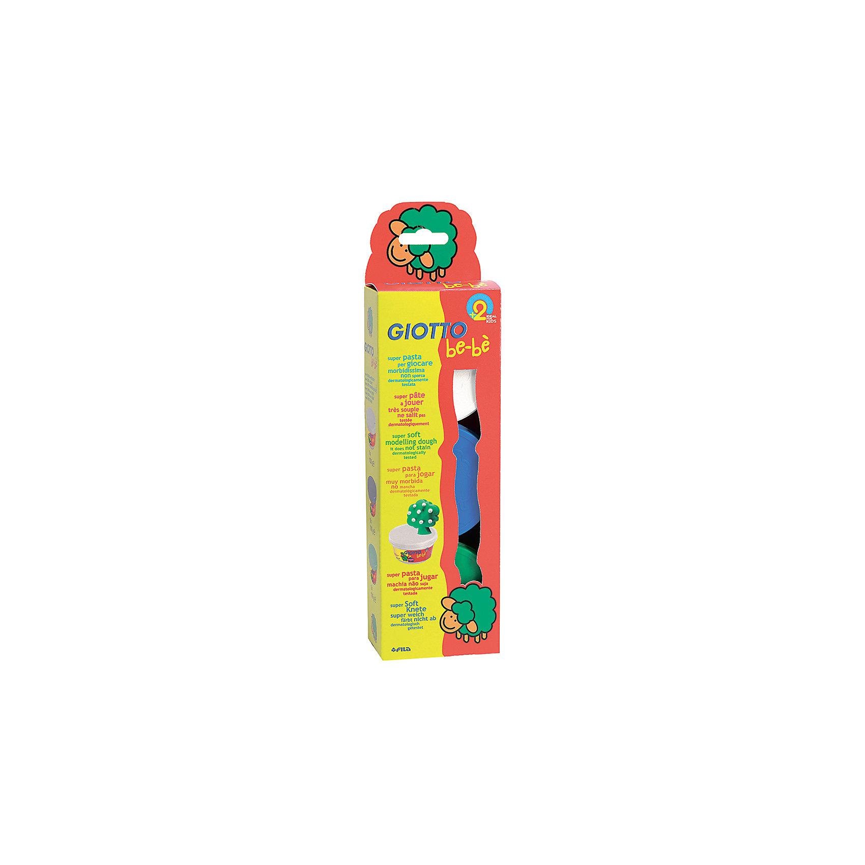 Мягкая паста для моделирования - аналог соленого теста, 3шт х 100 г, белый, зеленый, синий.Масса для лепки<br>Характеристики товара:<br><br>• в наборе: мягкая паста (3 цвета по 100 грамм);<br>• материал: натуральные компоненты, пластик;<br>• цвет пасты: синий, белый, зеленый;<br>• размер упаковки: 29х5х28 см;<br>• вес: 740 грамм;<br>• возраст: от 2 лет.<br><br>Набор Giotto be-be Super Modelling Dough подходит для лепки и моделирования. Паста изготовлена из натуральных компонентов, поэтому подходит даже для самых юных скульпторов. В набор входят 3 баночки с пастой: белая, зеленая, синяя.<br><br>Паста имеет мягкую, приятную консистенцию. Она легко размягчается, не липнет к рукам и быстро обретает желаемую форму. Не оставляет следов, не пачкает руки. <br><br>Giotto (Джотто) be-be Super Modelling Dough пасту для моделирования, 3шт*100 гр, бел, син, зел можно купить в нашем интернет-магазине.<br><br>Ширина мм: 323<br>Глубина мм: 88<br>Высота мм: 51<br>Вес г: 475<br>Возраст от месяцев: 24<br>Возраст до месяцев: 60<br>Пол: Унисекс<br>Возраст: Детский<br>SKU: 2021029
