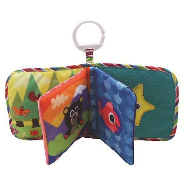 Игрушка Книжка первых открытий, LamazeРазвивающие игрушки<br>Прекрасная книжка- шуршалка. Выполненная в яркой, контрастной цветовой гамме , она прекрасно развивает мелкую моторику и цветовосприятие. Книга состоит из четырех мягконабивных страничек, которые шуршат и пищат. Игрушка имеет кольцо, за которое ее можно подвесить к коляске, кроватке или манежу. Изготовлена из гипоаллергенных материалов, безопасных для детей. <br><br>Дополнительная информация:<br><br>- Материал: пластик, текстиль.<br>- Размер: 15 х 12 х 7 см<br>- Звуковые эффекты: есть.<br><br>Игрушку Книжка первых открытий, Lamaze можно купить в нашем магазине.<br>Ширина мм: 252; Глубина мм: 187; Высота мм: 63; Вес г: 89; Возраст от месяцев: 3; Возраст до месяцев: 18; Пол: Унисекс; Возраст: Детский; SKU: 2022609;