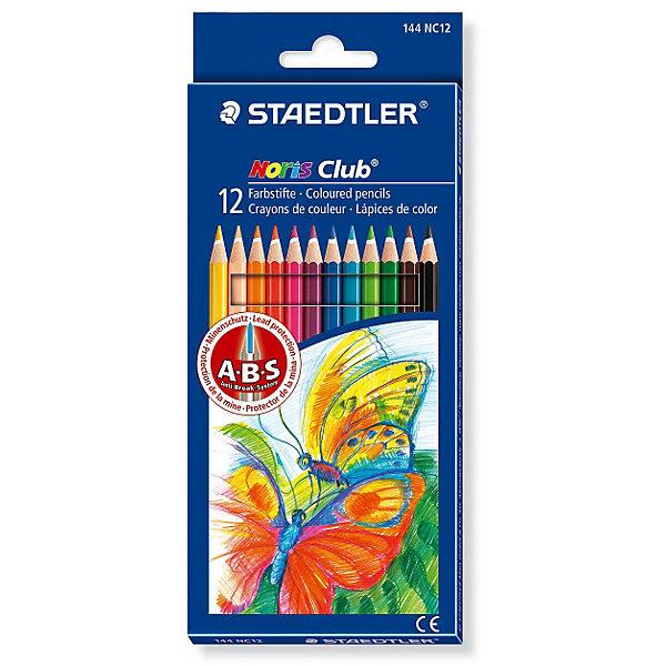 Карандаш цветной NorisClub, 12 цветовЦветные<br>Набор цветных карандашей Noris Club® 144, 12 цветов в картонной упаковке. Карандаши уложены в 1 ряд. Классическая шестигранная форма. A-B-S - белое защитное покрытие для укрепления грифеля и для защиты от поломки. Очень мягкий и яркий грифель. При производстве используется древесина сертифицированных и специально подготовленных лесов.<br>Ширина мм: 197; Глубина мм: 89; Высота мм: 10; Вес г: 75; Возраст от месяцев: 36; Возраст до месяцев: 192; Пол: Унисекс; Возраст: Детский; SKU: 2031234;